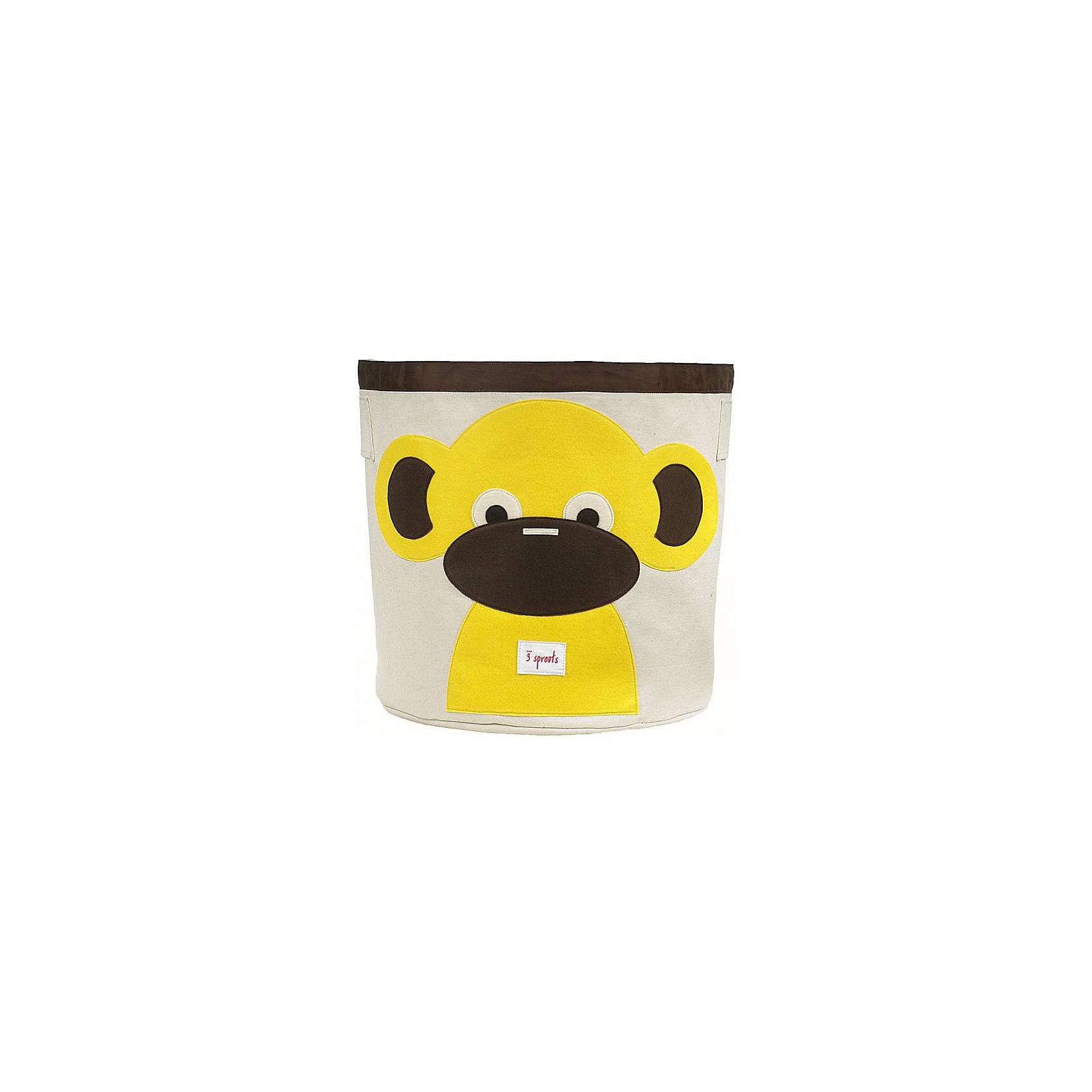 Корзина для хранения Обезьянка (Yellow Monkey), 3 SproutsТакие милые корзины помогут Вам навести порядок в детской. Размер корзины позволяет хранить в ней игрушки или белье.  <br><br>Дополнительная информация:<br><br>- Размер полотенца: 44.5х43 см.<br>- Материал: <br>100% хлопковый брезент.<br>100% полиэстровая фетровая аппликация.<br>100% полиэтиленовое покрытие (внутри).<br><br>Купить корзину для хранения Обезьянка (Yellow Monkey), можно в нашем магазине.<br><br>Ширина мм: 250<br>Глубина мм: 20<br>Высота мм: 450<br>Вес г: 526<br>Возраст от месяцев: 6<br>Возраст до месяцев: 84<br>Пол: Унисекс<br>Возраст: Детский<br>SKU: 5098208