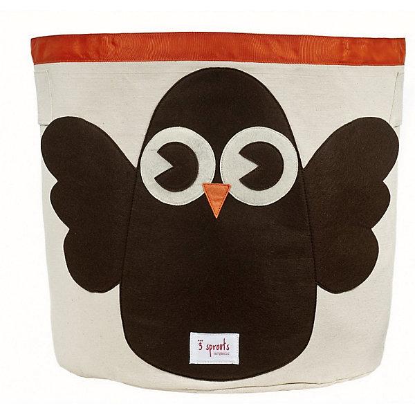 Корзина для хранения Сова (Brown Owl), 3 SproutsЯщики для игрушек<br>Такие милые корзины помогут Вам навести порядок в детской. Размер корзины позволяет хранить в ней игрушки или белье.  <br><br>Дополнительная информация:<br><br>- Размер полотенца: 44.5х43 см.<br>- Материал: <br>100% хлопковый брезент.<br>100% полиэстровая фетровая аппликация.<br>100% полиэтиленовое покрытие (внутри).<br><br>Купить корзину для хранения Сова (Brown Owl), можно в нашем магазине.<br>Ширина мм: 250; Глубина мм: 20; Высота мм: 450; Вес г: 526; Возраст от месяцев: 6; Возраст до месяцев: 84; Пол: Унисекс; Возраст: Детский; SKU: 5098209;