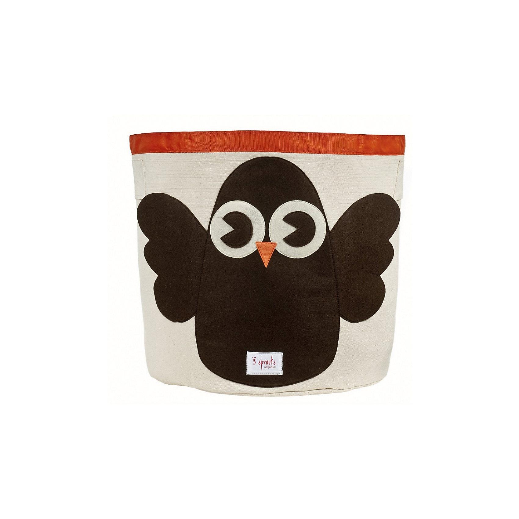 Корзина для хранения Сова (Brown Owl), 3 SproutsПорядок в детской<br>Такие милые корзины помогут Вам навести порядок в детской. Размер корзины позволяет хранить в ней игрушки или белье.  <br><br>Дополнительная информация:<br><br>- Размер полотенца: 44.5х43 см.<br>- Материал: <br>100% хлопковый брезент.<br>100% полиэстровая фетровая аппликация.<br>100% полиэтиленовое покрытие (внутри).<br><br>Купить корзину для хранения Сова (Brown Owl), можно в нашем магазине.<br><br>Ширина мм: 250<br>Глубина мм: 20<br>Высота мм: 450<br>Вес г: 526<br>Возраст от месяцев: 6<br>Возраст до месяцев: 84<br>Пол: Унисекс<br>Возраст: Детский<br>SKU: 5098209