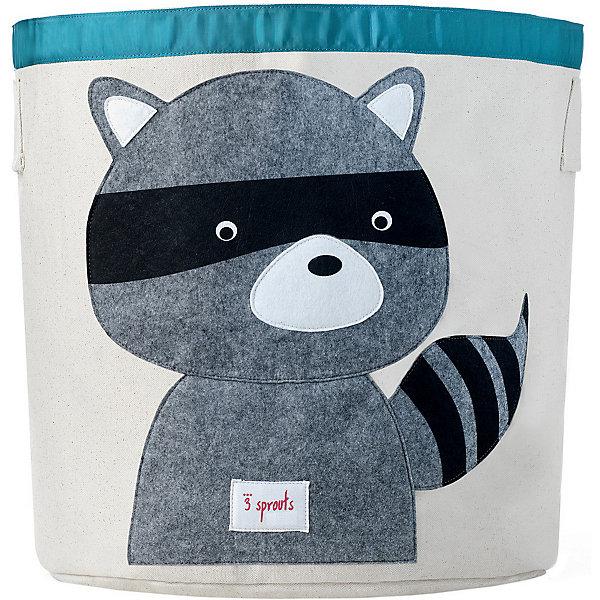 Корзина для хранения Енот (Grey Raccoon), 3 SproutsЯщики для игрушек<br>Такие милые корзины помогут Вам навести порядок в детской. Размер корзины позволяет хранить в ней игрушки или белье.  <br><br>Дополнительная информация:<br><br>- Размер полотенца: 44.5х43 см.<br>- Материал: <br>100% хлопковый брезент.<br>100% полиэстровая фетровая аппликация.<br>100% полиэтиленовое покрытие (внутри).<br><br>Купить корзину для хранения Енот (Grey Raccoon), можно в нашем магазине.<br><br>Ширина мм: 250<br>Глубина мм: 20<br>Высота мм: 450<br>Вес г: 526<br>Возраст от месяцев: 6<br>Возраст до месяцев: 84<br>Пол: Унисекс<br>Возраст: Детский<br>SKU: 5098210