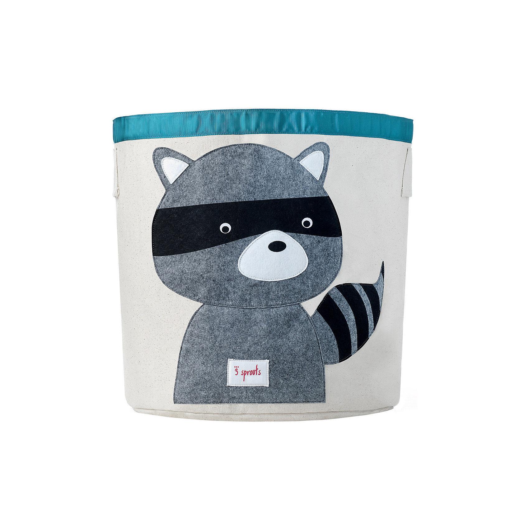 3 Sprouts Корзина для хранения Енот (Grey Raccoon), 3 Sprouts raccoon fur hats 100
