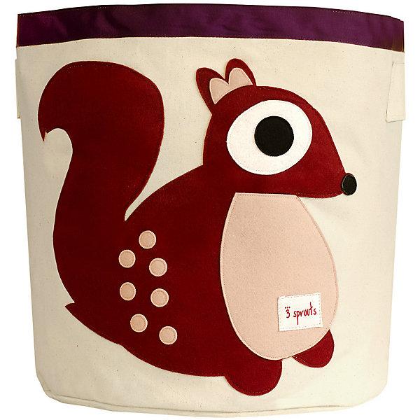 Корзина для хранения Белочка (Berry Squirrel), 3 SproutsЯщики для игрушек<br>Такие милые корзины помогут Вам навести порядок в детской. Размер корзины позволяет хранить в ней игрушки или белье.  <br><br>Дополнительная информация:<br><br>- Размер полотенца: 44.5х43 см.<br>- Материал: <br>100% хлопковый брезент.<br>100% полиэстровая фетровая аппликация.<br>100% полиэтиленовое покрытие (внутри).<br><br>Купить корзину для хранения Белочка (Berry Squirrel), можно в нашем магазине.<br><br>Ширина мм: 250<br>Глубина мм: 20<br>Высота мм: 450<br>Вес г: 526<br>Возраст от месяцев: 6<br>Возраст до месяцев: 84<br>Пол: Унисекс<br>Возраст: Детский<br>SKU: 5098211