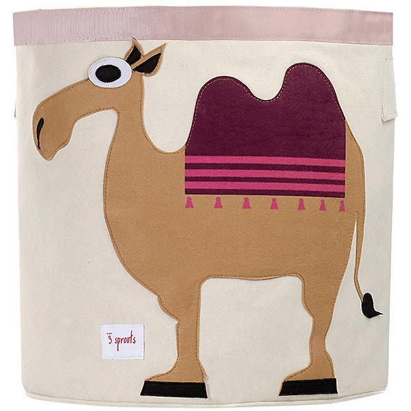 Корзина для хранения Верблюд (Sand Camel), 3 SproutsЯщики для игрушек<br>Такие милые корзины помогут Вам навести порядок в детской. Размер корзины позволяет хранить в ней игрушки или белье.  <br><br>Дополнительная информация:<br><br>- Размер полотенца: 44.5х43 см.<br>- Материал: <br>100% хлопковый брезент.<br>100% полиэстровая фетровая аппликация.<br>100% полиэтиленовое покрытие (внутри).<br><br>Купить корзину для хранения Верблюд (Sand Camel), можно в нашем магазине.<br>Ширина мм: 250; Глубина мм: 20; Высота мм: 450; Вес г: 526; Возраст от месяцев: 6; Возраст до месяцев: 84; Пол: Унисекс; Возраст: Детский; SKU: 5098213;