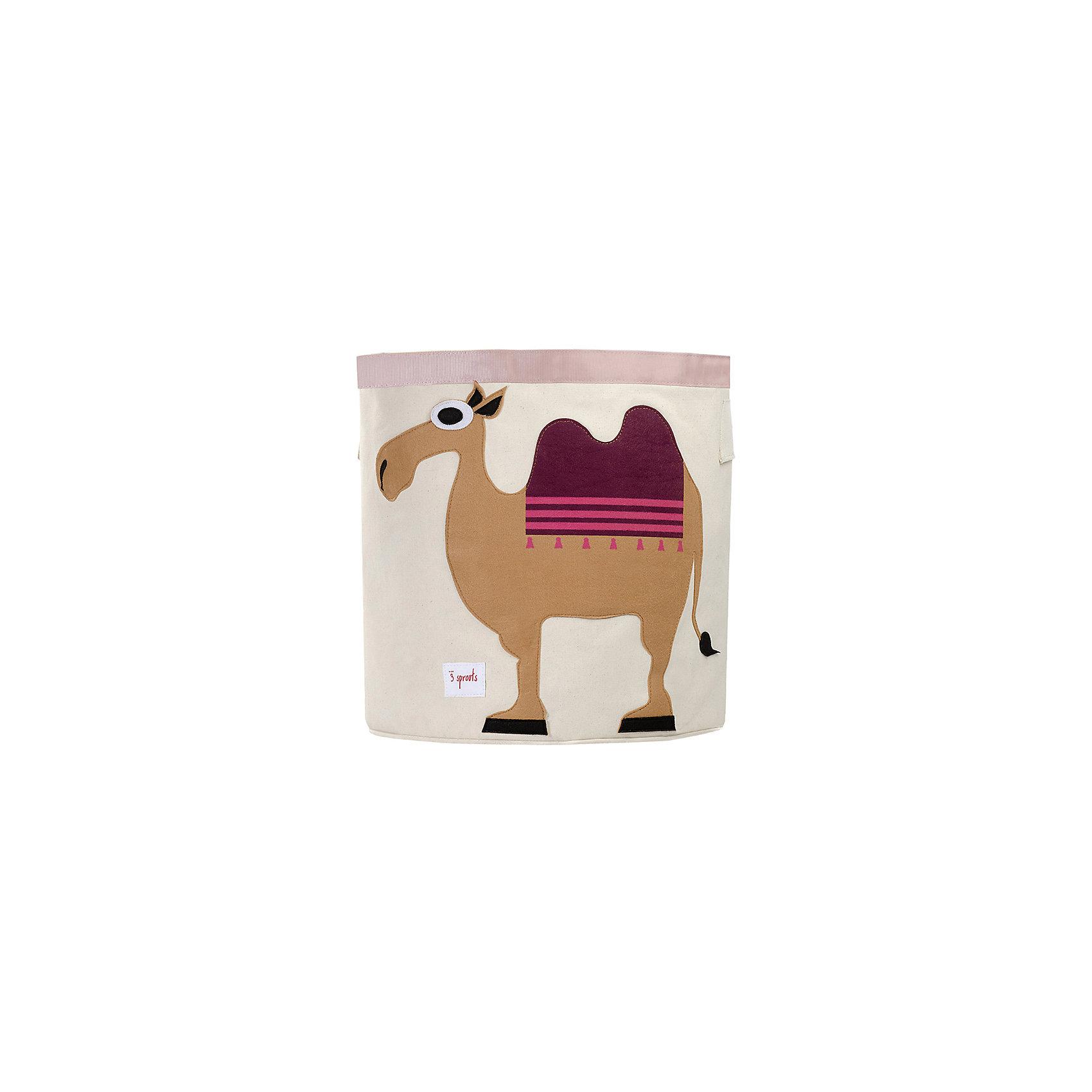 Корзина для хранения Верблюд (Sand Camel), 3 SproutsТакие милые корзины помогут Вам навести порядок в детской. Размер корзины позволяет хранить в ней игрушки или белье.  <br><br>Дополнительная информация:<br><br>- Размер полотенца: 44.5х43 см.<br>- Материал: <br>100% хлопковый брезент.<br>100% полиэстровая фетровая аппликация.<br>100% полиэтиленовое покрытие (внутри).<br><br>Купить корзину для хранения Верблюд (Sand Camel), можно в нашем магазине.<br><br>Ширина мм: 250<br>Глубина мм: 20<br>Высота мм: 450<br>Вес г: 526<br>Возраст от месяцев: 6<br>Возраст до месяцев: 84<br>Пол: Унисекс<br>Возраст: Детский<br>SKU: 5098213