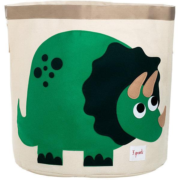 Корзина для хранения Динозаврик (Green Dinosaur), 3 SproutsЯщики для игрушек<br>Такие милые корзины помогут Вам навести порядок в детской. Размер корзины позволяет хранить в ней игрушки или белье.  <br><br>Дополнительная информация:<br><br>- Размер полотенца: 44.5х43 см.<br>- Материал: <br>100% хлопковый брезент.<br>100% полиэстровая фетровая аппликация.<br>100% полиэтиленовое покрытие (внутри).<br><br>Купить корзину для хранения Динозаврик (Green Dinosaur), можно в нашем магазине.<br><br>Ширина мм: 250<br>Глубина мм: 20<br>Высота мм: 450<br>Вес г: 526<br>Возраст от месяцев: 6<br>Возраст до месяцев: 84<br>Пол: Унисекс<br>Возраст: Детский<br>SKU: 5098214