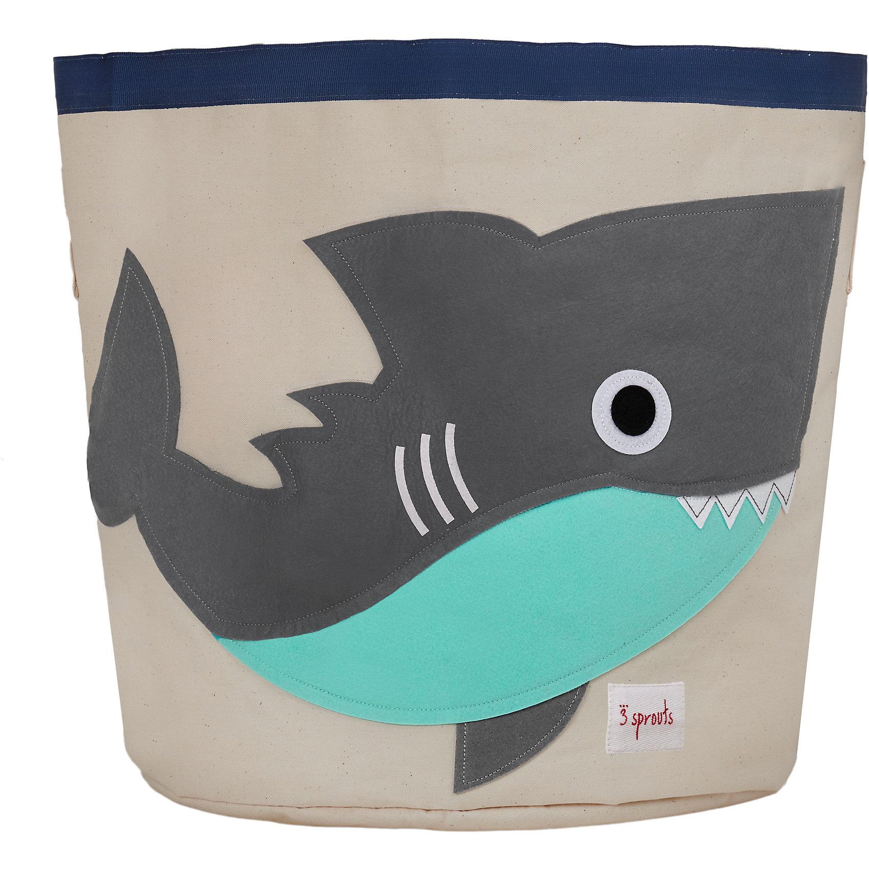 Корзина для хранения Акула (Grey Shark SPR213), 3 Sprouts, серыйПорядок в детской<br>Такие милые корзины помогут Вам навести порядок в детской. Размер корзины позволяет хранить в ней игрушки или белье.  <br><br>Дополнительная информация:<br><br>- Размер полотенца: 44.5х43 см.<br>- Материал: <br>100% хлопковый брезент.<br>100% полиэстровая фетровая аппликация.<br>100% полиэтиленовое покрытие (внутри).<br>- Цвет: серый.<br><br>Купить корзину для хранения Акула (Grey Shark SPR213) в сером цвете, можно в нашем магазине.<br><br>Ширина мм: 250<br>Глубина мм: 20<br>Высота мм: 450<br>Вес г: 526<br>Возраст от месяцев: 6<br>Возраст до месяцев: 84<br>Пол: Унисекс<br>Возраст: Детский<br>SKU: 5098215