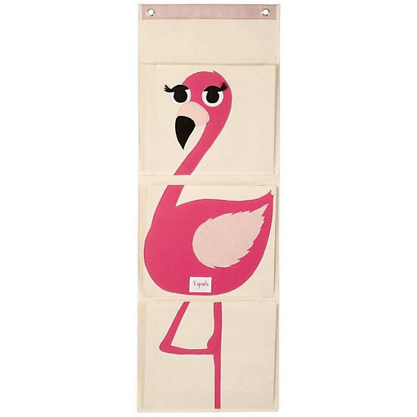 Органайзер на стену Фламинго (Pink Flamingo), 3 SproutsЯщики для игрушек<br>Три ярких больших кармана, которые легко вешаются на стену, прекрасно подойдут для хранения подгузников, бесценных произведений искусства Вашего ребёнка и мелких игрушек.<br><br>Дополнительная информация:<br><br>- Размер органайзера: 35.5x100 см.<br>- Размер карманов: 35.5x29 см.<br>- Материал: <br>100% брезентовый хлопок.<br>100% полиэстеровый фетр.<br>100% полиэтилен.<br><br>Купить органайзер на стену Фламинго (Pink Flamingo), можно в нашем магазине.<br>Ширина мм: 370; Глубина мм: 20; Высота мм: 310; Вес г: 430; Возраст от месяцев: 6; Возраст до месяцев: 84; Пол: Унисекс; Возраст: Детский; SKU: 5098216;