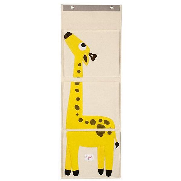 Органайзер на стену Жираф (Yellow Giraffe), 3 SproutsЯщики для игрушек<br>Три ярких больших кармана, которые легко вешаются на стену, прекрасно подойдут для хранения подгузников, бесценных произведений искусства Вашего ребёнка и мелких игрушек.<br><br>Дополнительная информация:<br><br>- Размер органайзера: 35.5x100 см.<br>- Размер карманов: 35.5x29 см.<br>- Материал: <br>100% брезентовый хлопок.<br>100% полиэстеровый фетр.<br>100% полиэтилен.<br><br>Купить органайзер на стену Жираф (Yellow Giraffe), можно в нашем магазине.<br><br>Ширина мм: 370<br>Глубина мм: 20<br>Высота мм: 310<br>Вес г: 430<br>Возраст от месяцев: 6<br>Возраст до месяцев: 84<br>Пол: Унисекс<br>Возраст: Детский<br>SKU: 5098217
