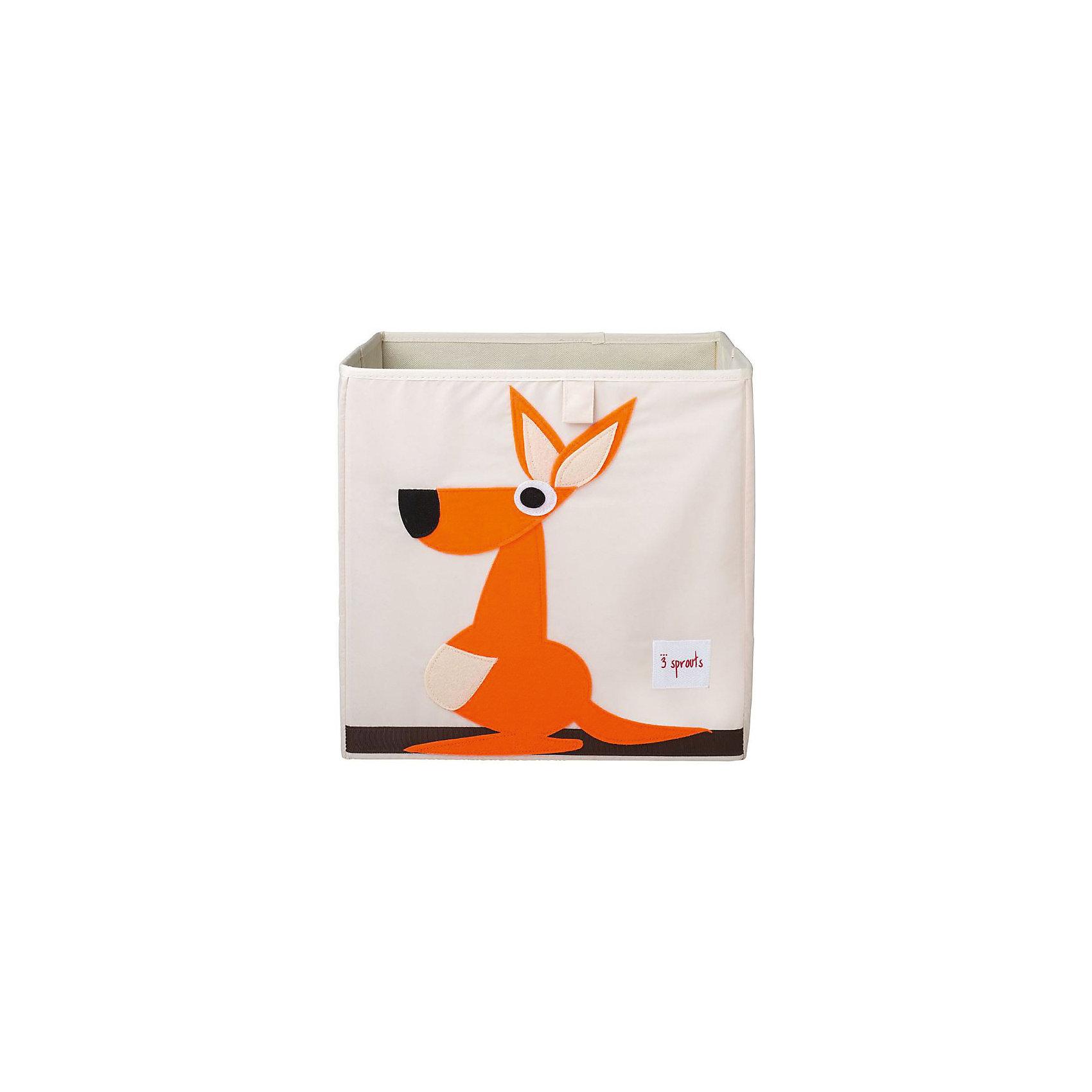 Коробка для хранения Кенгуру (Orange Kangaroo), 3 SproutsПорядок в детской<br>Красивая коробка - это не только место для хранения вещей, но и прекрасный декор любой комнаты.<br><br>Дополнительная информация:<br><br>- Размер: 33x33x33 см.<br>- Материал: полиэстер.<br>- Орнамент: Кегуру.<br><br>Купить коробку для хранения Кегуру (Orange Kangaroo), можно в нашем магазине.<br><br>Ширина мм: 330<br>Глубина мм: 20<br>Высота мм: 330<br>Вес г: 830<br>Возраст от месяцев: 6<br>Возраст до месяцев: 84<br>Пол: Унисекс<br>Возраст: Детский<br>SKU: 5098220