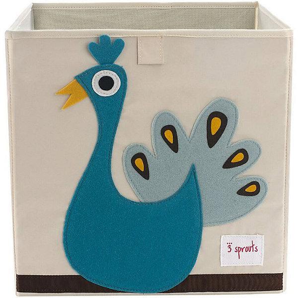 Коробка для хранения Павлин (Blue Peacock), 3 SproutsЯщики для игрушек<br>Красивая коробка - это не только место для хранения вещей, но и прекрасный декор любой комнаты.<br><br>Дополнительная информация:<br><br>- Размер: 33x33x33 см.<br>- Материал: полиэстер.<br>- Орнамент: Павлин.<br><br>Купить коробку для хранения Павлин (Blue Peacock), можно в нашем магазине.<br>Ширина мм: 330; Глубина мм: 20; Высота мм: 330; Вес г: 830; Возраст от месяцев: 6; Возраст до месяцев: 84; Пол: Унисекс; Возраст: Детский; SKU: 5098221;