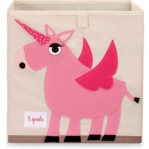 Коробка для хранения Единорог (Pink Unicorn), 3 SproutsЯщики для игрушек<br>Красивая коробка - это не только место для хранения вещей, но и прекрасный декор любой комнаты.<br><br>Дополнительная информация:<br><br>- Размер: 33x33x33 см.<br>- Материал: полиэстер.<br>- Орнамент: Единорог.<br><br>Купить коробку для хранения Единорог (Pink Unicorn), можно в нашем магазине.<br>Ширина мм: 330; Глубина мм: 20; Высота мм: 330; Вес г: 830; Возраст от месяцев: 6; Возраст до месяцев: 84; Пол: Унисекс; Возраст: Детский; SKU: 5098223;