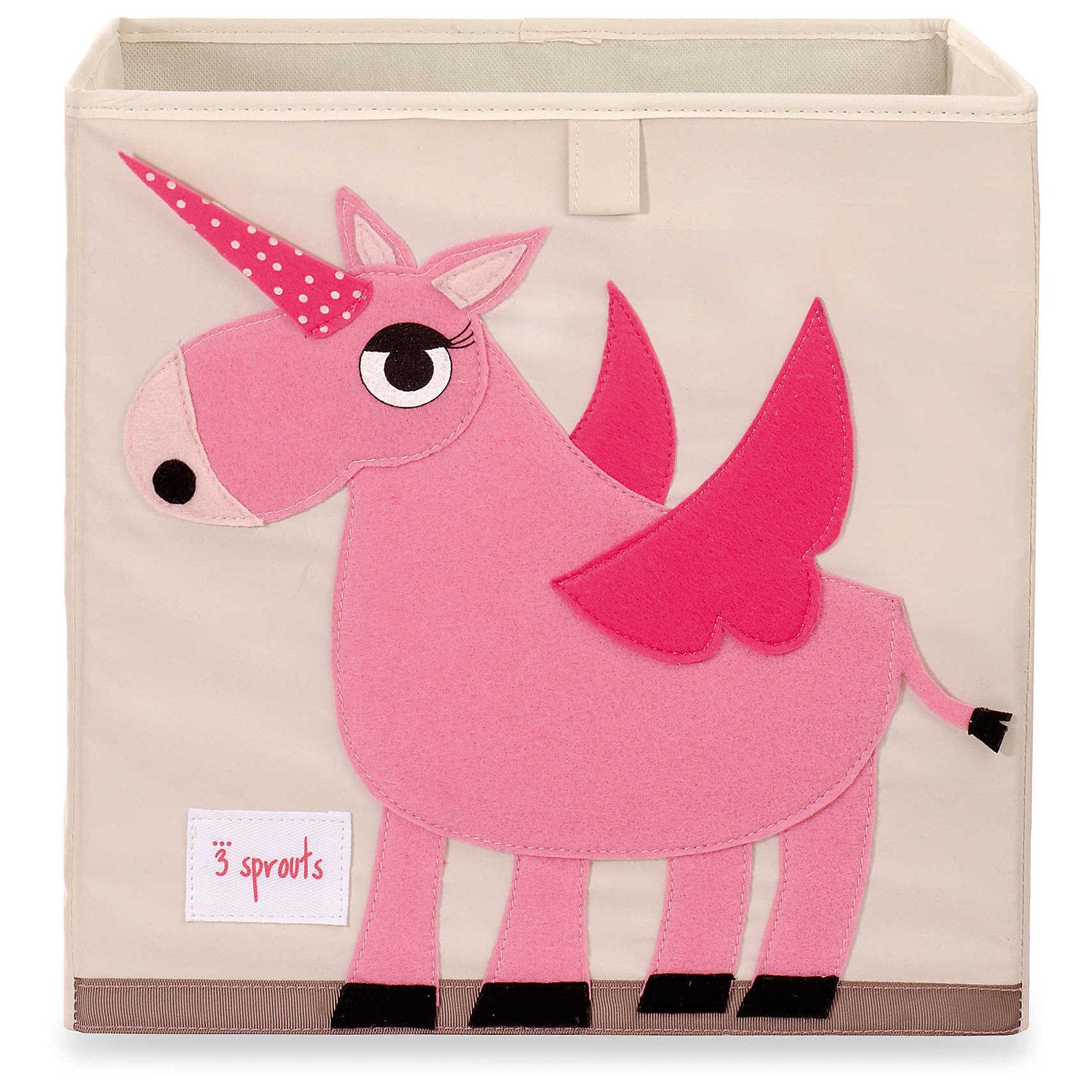 Коробка для хранения Единорог (Pink Unicorn), 3 SproutsКрасивая коробка - это не только место для хранения вещей, но и прекрасный декор любой комнаты.<br><br>Дополнительная информация:<br><br>- Размер: 33x33x33 см.<br>- Материал: полиэстер.<br>- Орнамент: Единорог.<br><br>Купить коробку для хранения Единорог (Pink Unicorn), можно в нашем магазине.<br><br>Ширина мм: 330<br>Глубина мм: 20<br>Высота мм: 330<br>Вес г: 830<br>Возраст от месяцев: 6<br>Возраст до месяцев: 84<br>Пол: Унисекс<br>Возраст: Детский<br>SKU: 5098223