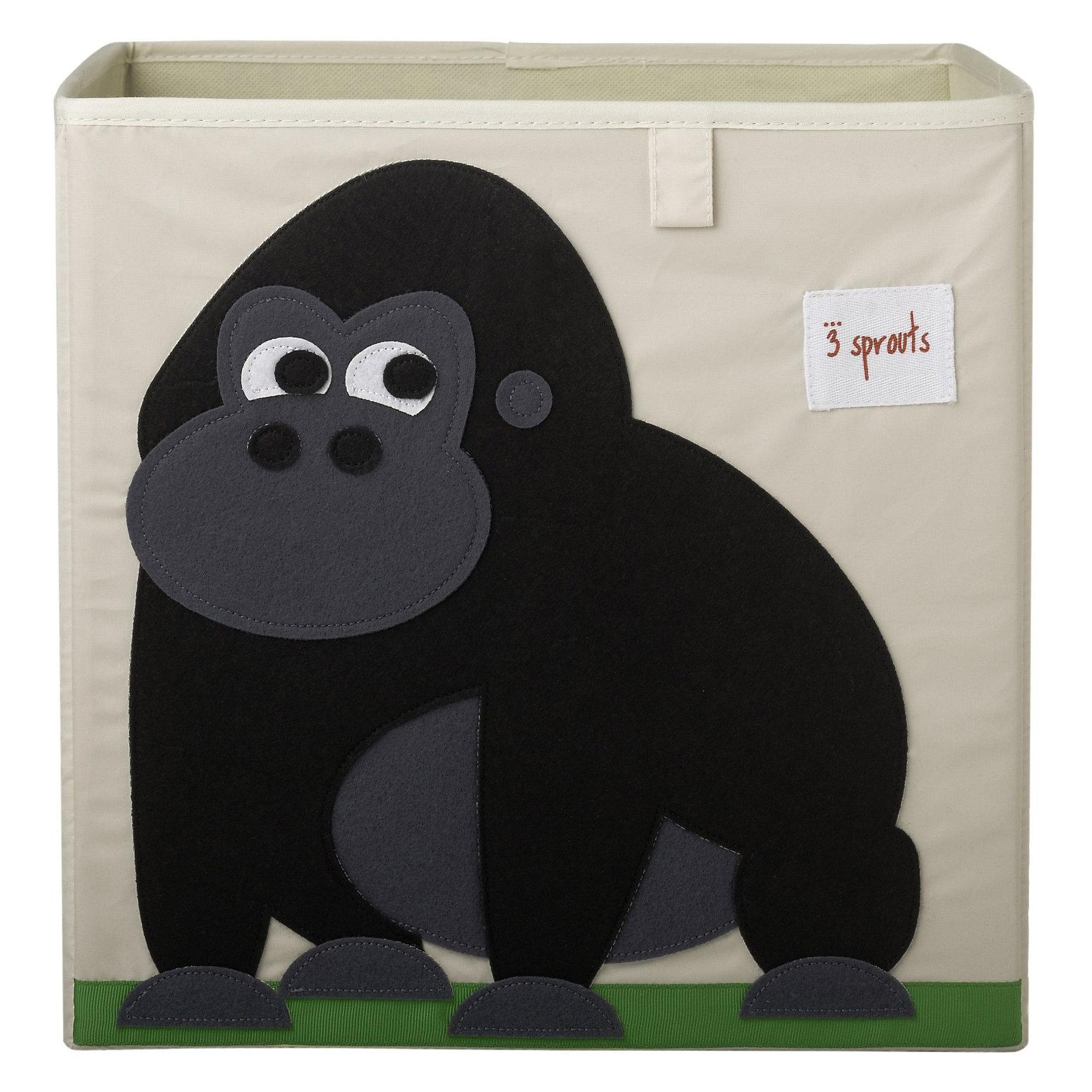3 Sprouts Коробка для хранения Горилла (Black Gorilla), 3 Sprouts