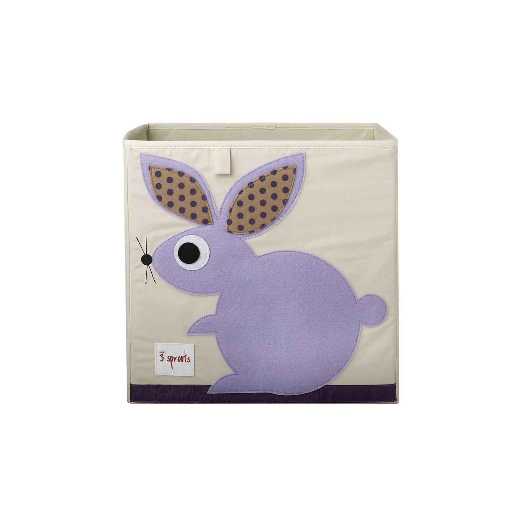 Коробка для хранения Кролик (Purple Rabbit), 3 SproutsКрасивая коробка - это не только место для хранения вещей, но и прекрасный декор любой комнаты.<br><br>Дополнительная информация:<br><br>- Размер: 33x33x33 см.<br>- Материал: полиэстер.<br>- Орнамент: Кролик.<br><br>Купить коробку для хранения Кролик (Purple Rabbit), можно в нашем магазине.<br><br>Ширина мм: 330<br>Глубина мм: 20<br>Высота мм: 330<br>Вес г: 830<br>Возраст от месяцев: 6<br>Возраст до месяцев: 84<br>Пол: Унисекс<br>Возраст: Детский<br>SKU: 5098225