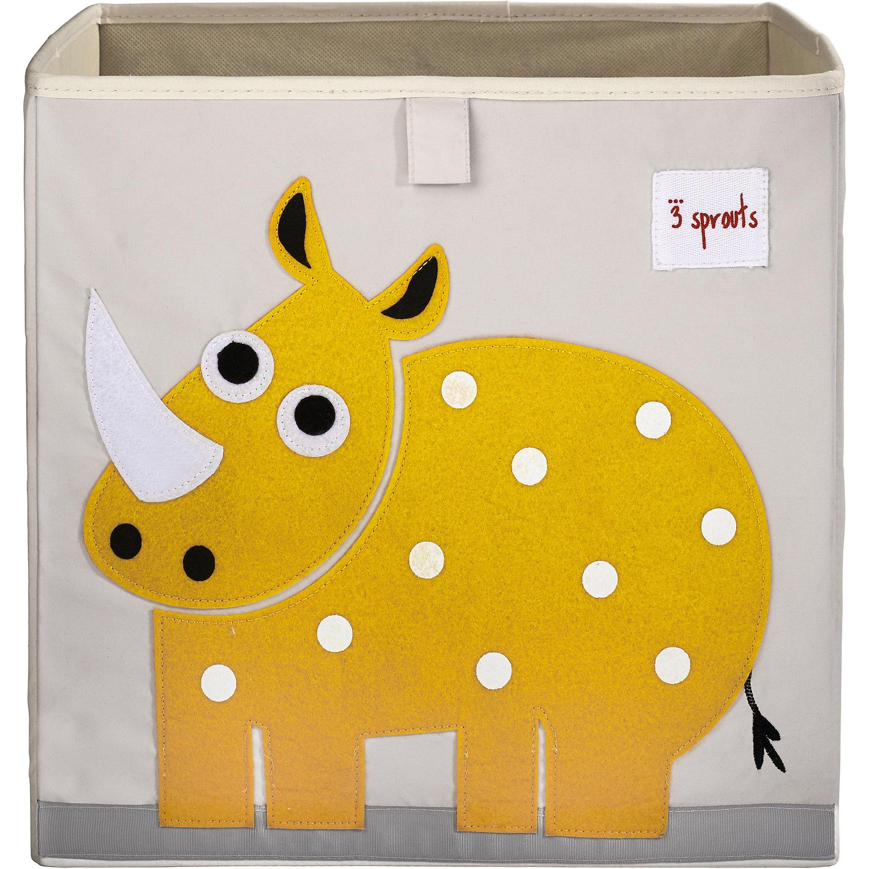 Коробка для хранения Носорог (Yellow Rhino, 3 SproutsКрасивая коробка - это не только место для хранения вещей, но и прекрасный декор любой комнаты.<br><br>Дополнительная информация:<br><br>- Размер: 33x33x33 см.<br>- Материал: полиэстер.<br>- Орнамент: Носорог.<br><br>Купить коробку для хранения Носорог (Yellow Rhino), можно в нашем магазине.<br><br>Ширина мм: 330<br>Глубина мм: 20<br>Высота мм: 330<br>Вес г: 830<br>Возраст от месяцев: 6<br>Возраст до месяцев: 2147483647<br>Пол: Унисекс<br>Возраст: Детский<br>SKU: 5098226