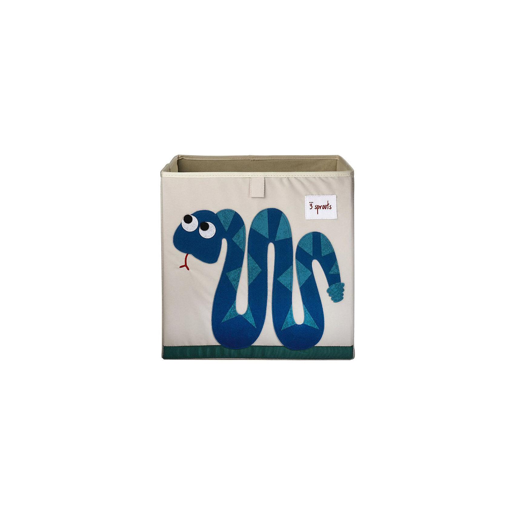 Коробка для хранения Змейка (Blue Snake), 3 SproutsПорядок в детской<br>Красивая коробка - это не только место для хранения вещей, но и прекрасный декор любой комнаты.<br><br>Дополнительная информация:<br><br>- Размер: 33x33x33 см.<br>- Материал: полиэстер.<br>- Орнамент: Змейка.<br><br>Купить коробку для хранения Змейка (Blue Snake), можно в нашем магазине.<br><br>Ширина мм: 330<br>Глубина мм: 20<br>Высота мм: 330<br>Вес г: 830<br>Возраст от месяцев: 6<br>Возраст до месяцев: 84<br>Пол: Унисекс<br>Возраст: Детский<br>SKU: 5098227