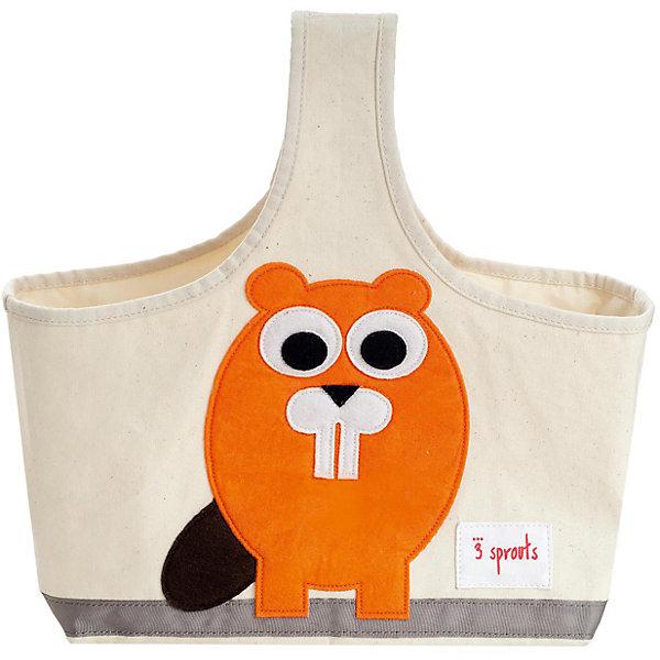 Сумочка для хранения детских принадлежностей Бобр (Orange Beaver), 3 SproutsКорзины для игрушек<br>Яркая сумочка - это идеальное решение для хранения детских принадлежностей. Изготовленная из хлопкового брезента и фетра, она является прекрасным контейнером для хранения и переноски любых детских принадлежностей.<br><br>Дополнительная информация:<br><br>- Размер: 38x30x14 см.<br>- Материал: хлопок, фетр, полиэстер.<br>- Орнамент: Бобр.<br><br>Купить сумочку для хранения детских принадлежностей Бобр (Orange Beaver), можно в нашем магазине.<br><br>Ширина мм: 320<br>Глубина мм: 240<br>Высота мм: 20<br>Вес г: 234<br>Возраст от месяцев: 6<br>Возраст до месяцев: 84<br>Пол: Унисекс<br>Возраст: Детский<br>SKU: 5098229