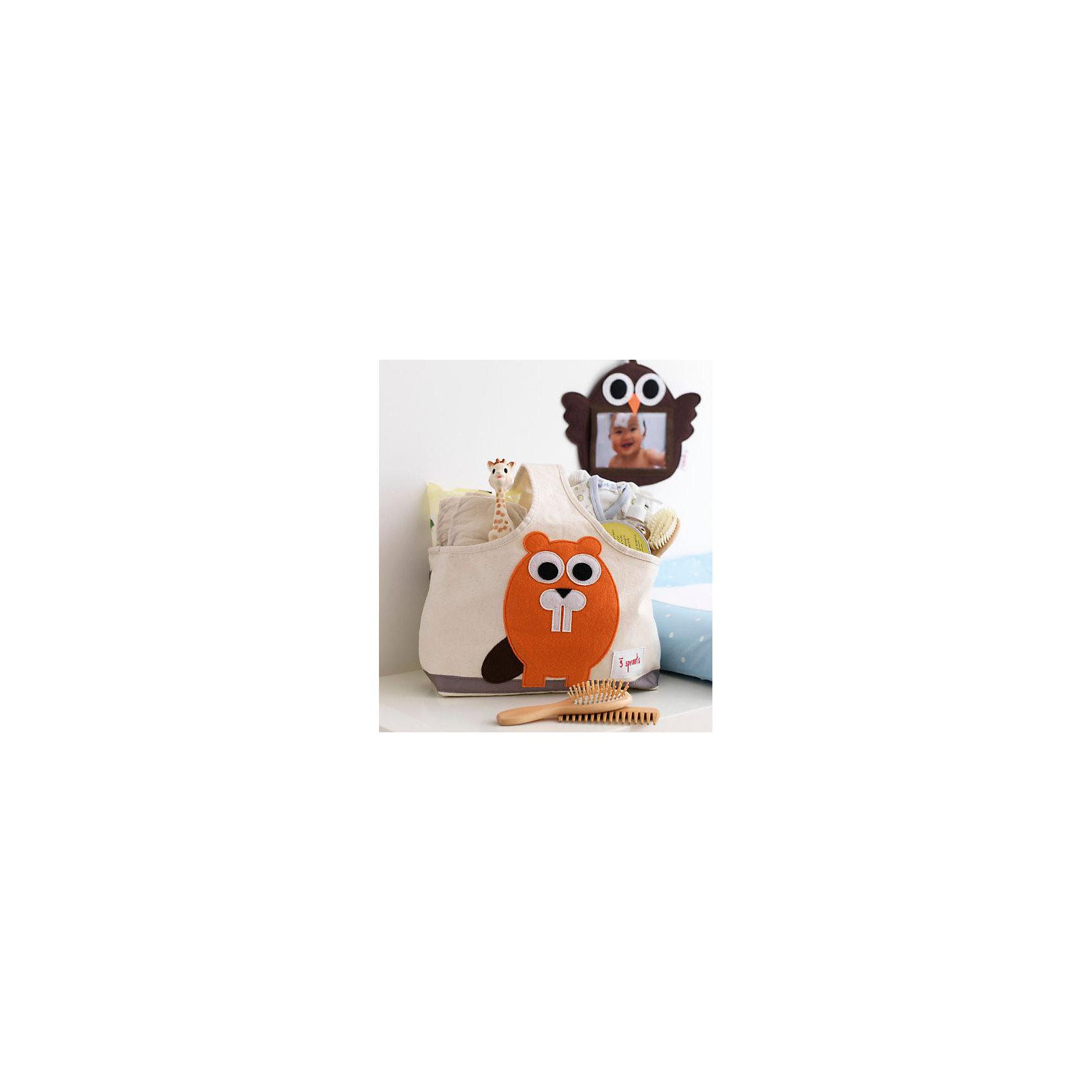 Сумочка для хранения детских принадлежностей Бобр (Orange Beaver), 3 Sprouts от myToys