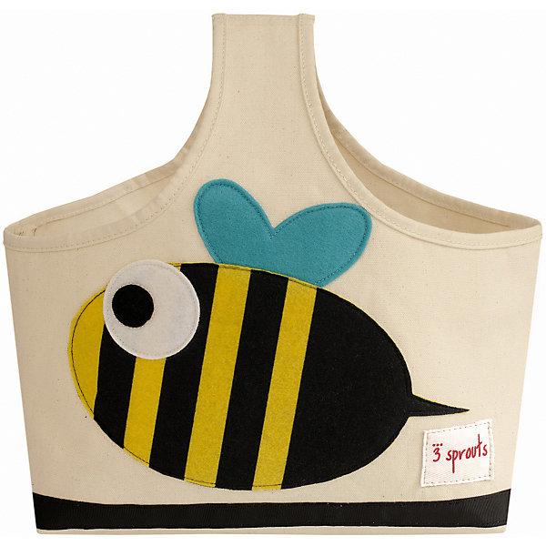 Сумочка для хранения детских принадлежностей Пчёлка (Black&amp;Yellow Bee), 3 SproutsКорзины для игрушек<br>Яркая сумочка - это идеальное решение для хранения детских принадлежностей. Изготовленная из хлопкового брезента и фетра, она является прекрасным контейнером для хранения и переноски любых детских принадлежностей.<br><br>Дополнительная информация:<br><br>- Размер: 38x30x14 см.<br>- Материал: хлопок, фетр, полиэстер.<br>- Орнамент: Пчелка.<br><br>Купить сумочку для хранения детских принадлежностей Пчелка (Black&amp;Yellow Bee), можно в нашем магазине.<br>Ширина мм: 320; Глубина мм: 240; Высота мм: 20; Вес г: 234; Возраст от месяцев: 6; Возраст до месяцев: 84; Пол: Унисекс; Возраст: Детский; SKU: 5098230;