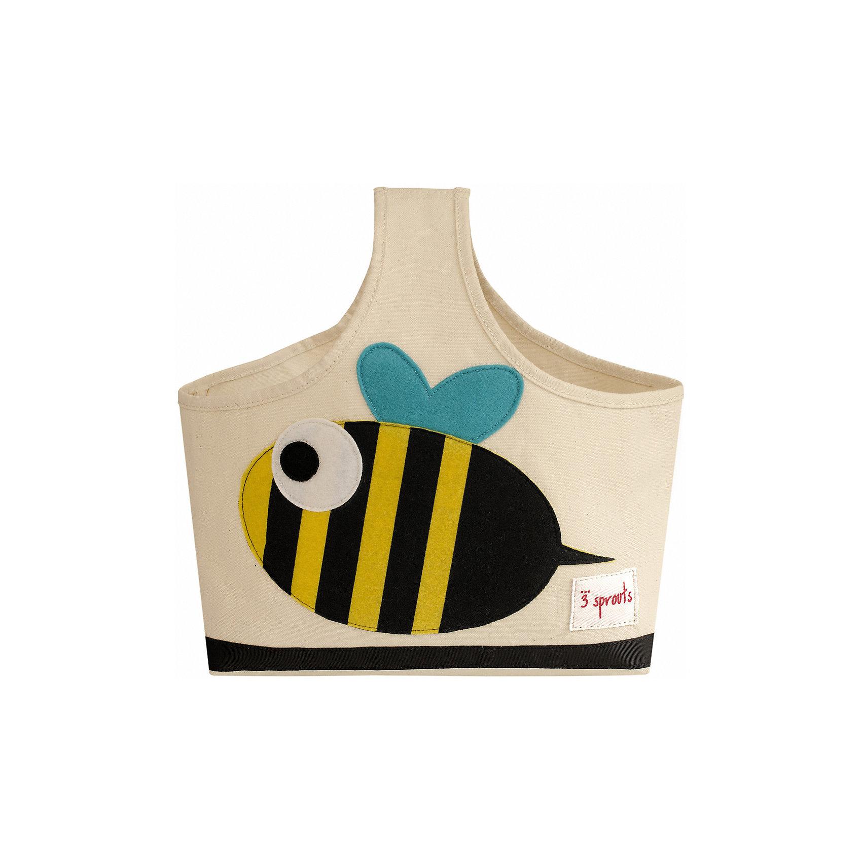 Сумочка для хранения детских принадлежностей Пчёлка (Black&amp;Yellow Bee), 3 SproutsПорядок в детской<br>Яркая сумочка - это идеальное решение для хранения детских принадлежностей. Изготовленная из хлопкового брезента и фетра, она является прекрасным контейнером для хранения и переноски любых детских принадлежностей.<br><br>Дополнительная информация:<br><br>- Размер: 38x30x14 см.<br>- Материал: хлопок, фетр, полиэстер.<br>- Орнамент: Пчелка.<br><br>Купить сумочку для хранения детских принадлежностей Пчелка (Black&amp;Yellow Bee), можно в нашем магазине.<br><br>Ширина мм: 320<br>Глубина мм: 240<br>Высота мм: 20<br>Вес г: 234<br>Возраст от месяцев: 6<br>Возраст до месяцев: 84<br>Пол: Унисекс<br>Возраст: Детский<br>SKU: 5098230