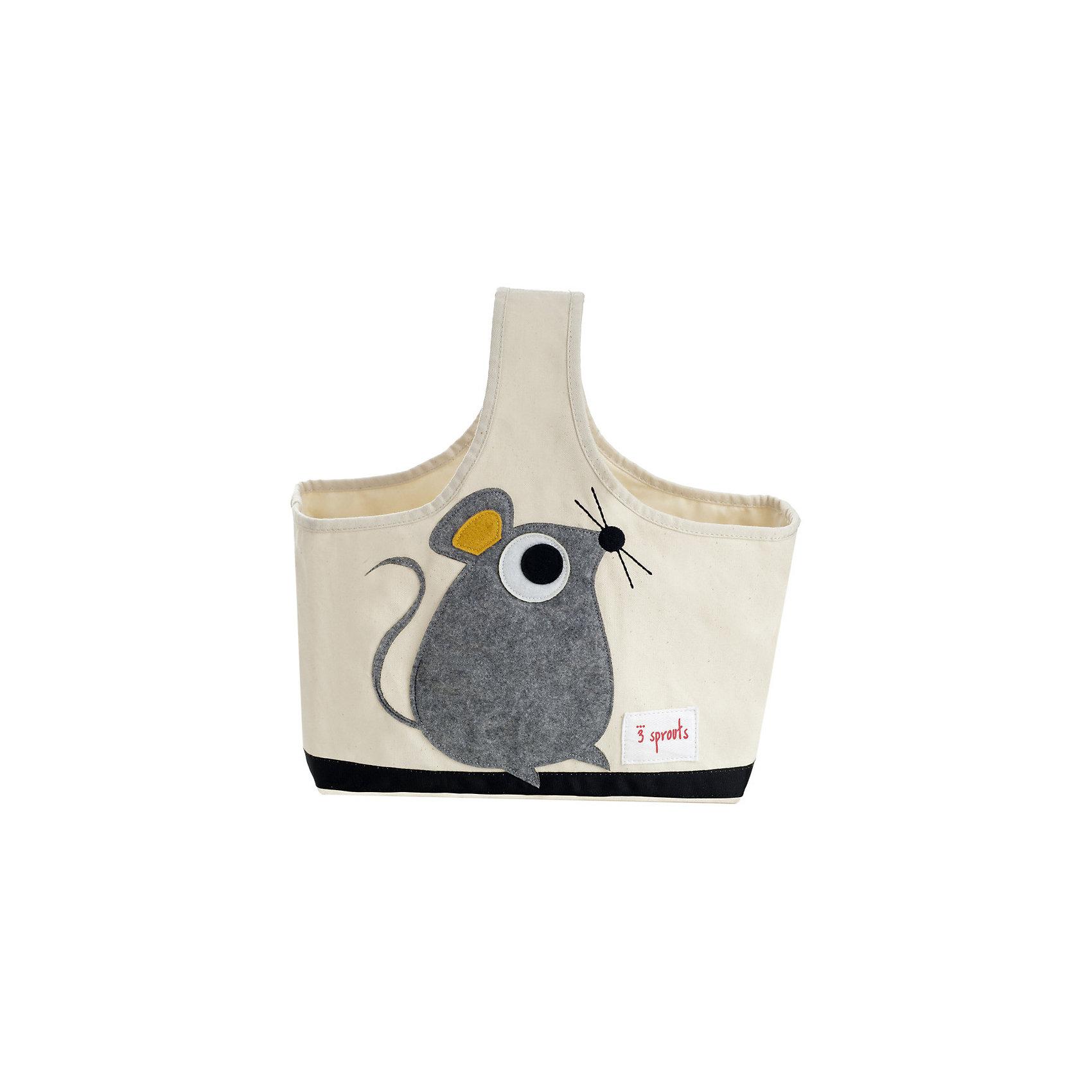 Сумочка для хранения детских принадлежностей Мышонок (Grey Mouse), 3 SproutsЯркая сумочка - это идеальное решение для хранения детских принадлежностей. Изготовленная из хлопкового брезента и фетра, она является прекрасным контейнером для хранения и переноски любых детских принадлежностей.<br><br>Дополнительная информация:<br><br>- Размер: 38x30x14 см.<br>- Материал: хлопок, фетр, полиэстер.<br>- Орнамент: Мышонок.<br><br>Купить сумочку для хранения детских принадлежностей Мышонок (Grey Mouse), можно в нашем магазине.<br><br>Ширина мм: 320<br>Глубина мм: 240<br>Высота мм: 20<br>Вес г: 234<br>Возраст от месяцев: 6<br>Возраст до месяцев: 84<br>Пол: Унисекс<br>Возраст: Детский<br>SKU: 5098231