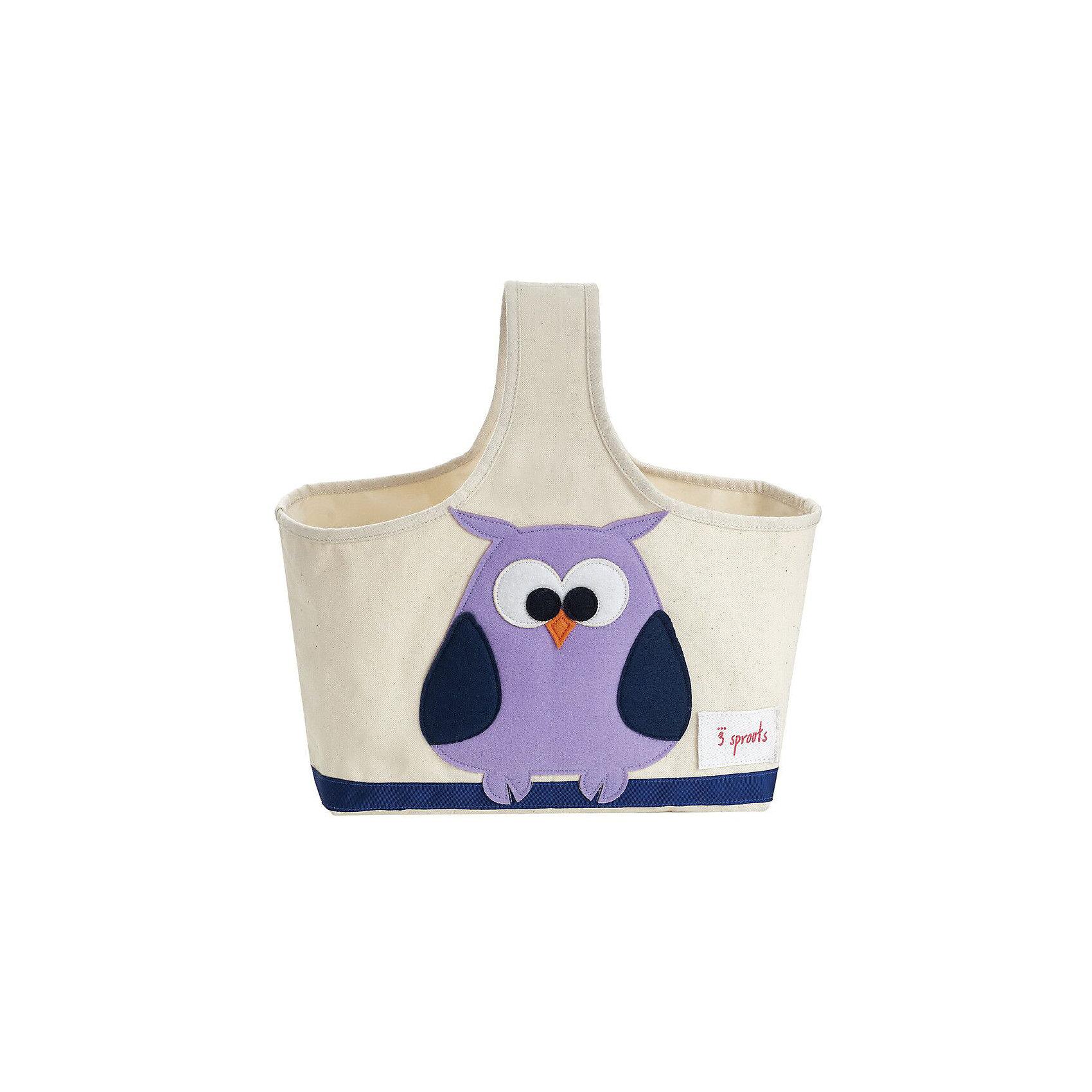 Сумочка для хранения детских принадлежностей Сова (Purple Owl), 3 SproutsПорядок в детской<br>Яркая сумочка - это идеальное решение для хранения детских принадлежностей. Изготовленная из хлопкового брезента и фетра, она является прекрасным контейнером для хранения и переноски любых детских принадлежностей.<br><br>Дополнительная информация:<br><br>- Размер: 38x30x14 см.<br>- Материал: хлопок, фетр, полиэстер.<br>- Орнамент: Сова.<br><br>Купить сумочку для хранения детских принадлежностей Сова (Purple Owl), можно в нашем магазине.<br><br>Ширина мм: 320<br>Глубина мм: 240<br>Высота мм: 20<br>Вес г: 234<br>Возраст от месяцев: 6<br>Возраст до месяцев: 84<br>Пол: Унисекс<br>Возраст: Детский<br>SKU: 5098232