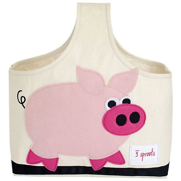 Сумочка для хранения детских принадлежностей Свинка (Pink Pig), 3 SproutsКорзины для игрушек<br>Яркая сумочка - это идеальное решение для хранения детских принадлежностей. Изготовленная из хлопкового брезента и фетра, она является прекрасным контейнером для хранения и переноски любых детских принадлежностей.<br><br>Дополнительная информация:<br><br>- Размер: 38x30x14 см.<br>- Материал: хлопок, фетр, полиэстер.<br>- Орнамент: Свинка.<br><br>Купить сумочку для хранения детских принадлежностей Свинка (Pink Pig), можно в нашем магазине.<br><br>Ширина мм: 320<br>Глубина мм: 240<br>Высота мм: 20<br>Вес г: 234<br>Возраст от месяцев: 6<br>Возраст до месяцев: 84<br>Пол: Унисекс<br>Возраст: Детский<br>SKU: 5098233