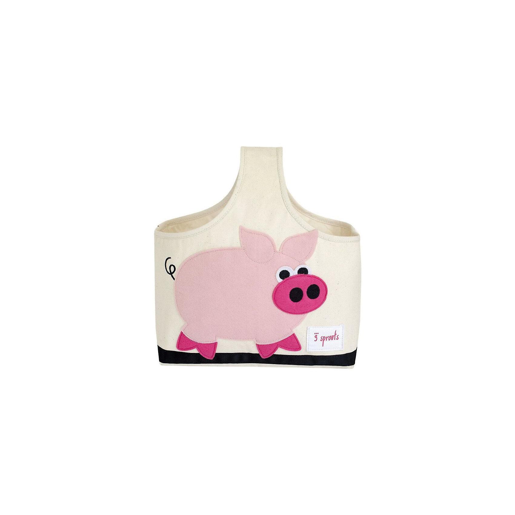Сумочка для хранения детских принадлежностей Свинка (Pink Pig), 3 SproutsПорядок в детской<br>Яркая сумочка - это идеальное решение для хранения детских принадлежностей. Изготовленная из хлопкового брезента и фетра, она является прекрасным контейнером для хранения и переноски любых детских принадлежностей.<br><br>Дополнительная информация:<br><br>- Размер: 38x30x14 см.<br>- Материал: хлопок, фетр, полиэстер.<br>- Орнамент: Свинка.<br><br>Купить сумочку для хранения детских принадлежностей Свинка (Pink Pig), можно в нашем магазине.<br><br>Ширина мм: 320<br>Глубина мм: 240<br>Высота мм: 20<br>Вес г: 234<br>Возраст от месяцев: 6<br>Возраст до месяцев: 84<br>Пол: Унисекс<br>Возраст: Детский<br>SKU: 5098233