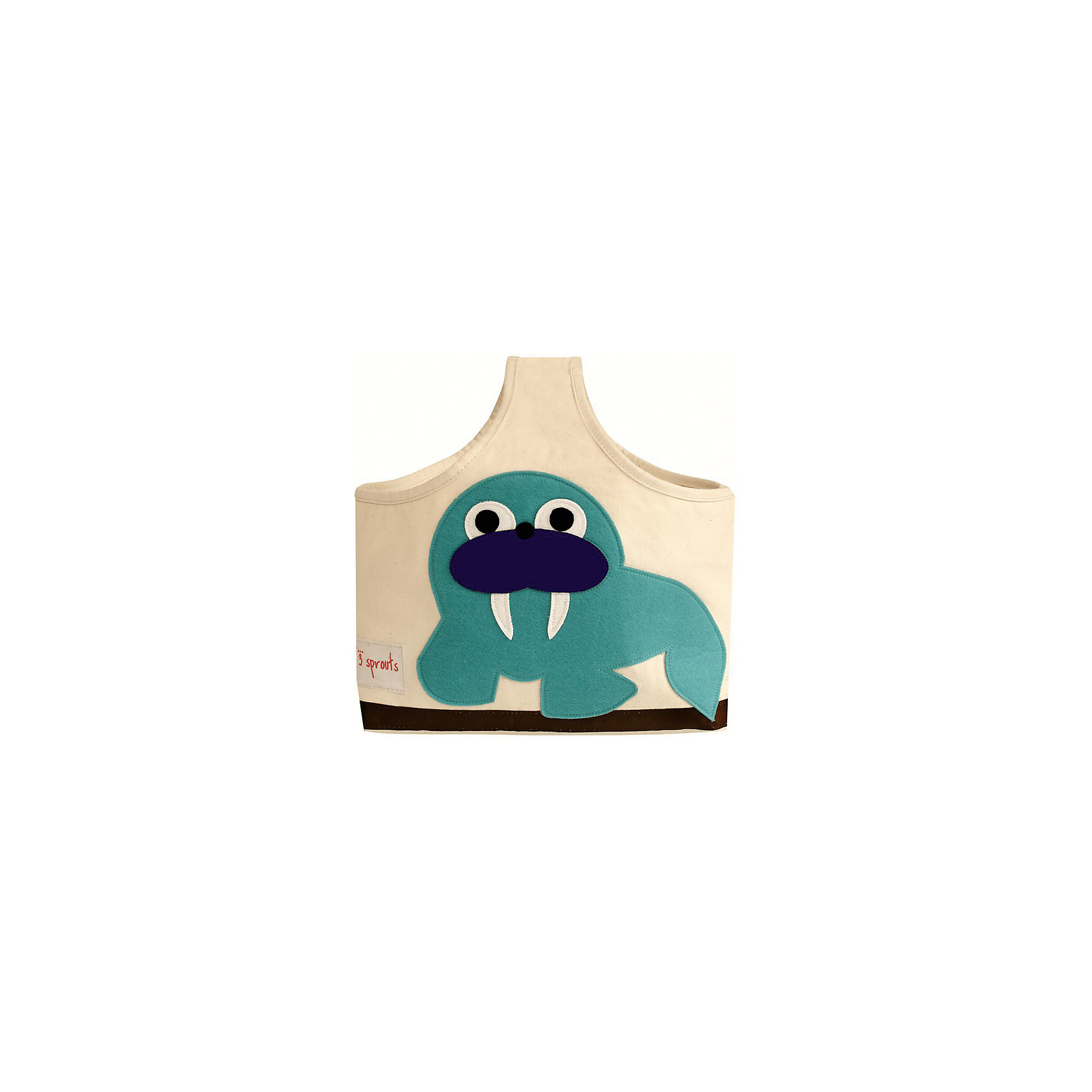Сумочка для хранения детских принадлежностей Морж (Blue Walrus), 3 SproutsПорядок в детской<br>Яркая сумочка - это идеальное решение для хранения детских принадлежностей. Изготовленная из хлопкового брезента и фетра, она является прекрасным контейнером для хранения и переноски любых детских принадлежностей.<br><br>Дополнительная информация:<br><br>- Размер: 38x30x14 см.<br>- Материал: хлопок, фетр, полиэстер.<br>- Орнамент: Морж.<br><br>Купить сумочку для хранения детских принадлежностей Морж (Blue Walrus), можно в нашем магазине.<br><br>Ширина мм: 320<br>Глубина мм: 240<br>Высота мм: 20<br>Вес г: 234<br>Возраст от месяцев: 6<br>Возраст до месяцев: 84<br>Пол: Унисекс<br>Возраст: Детский<br>SKU: 5098234