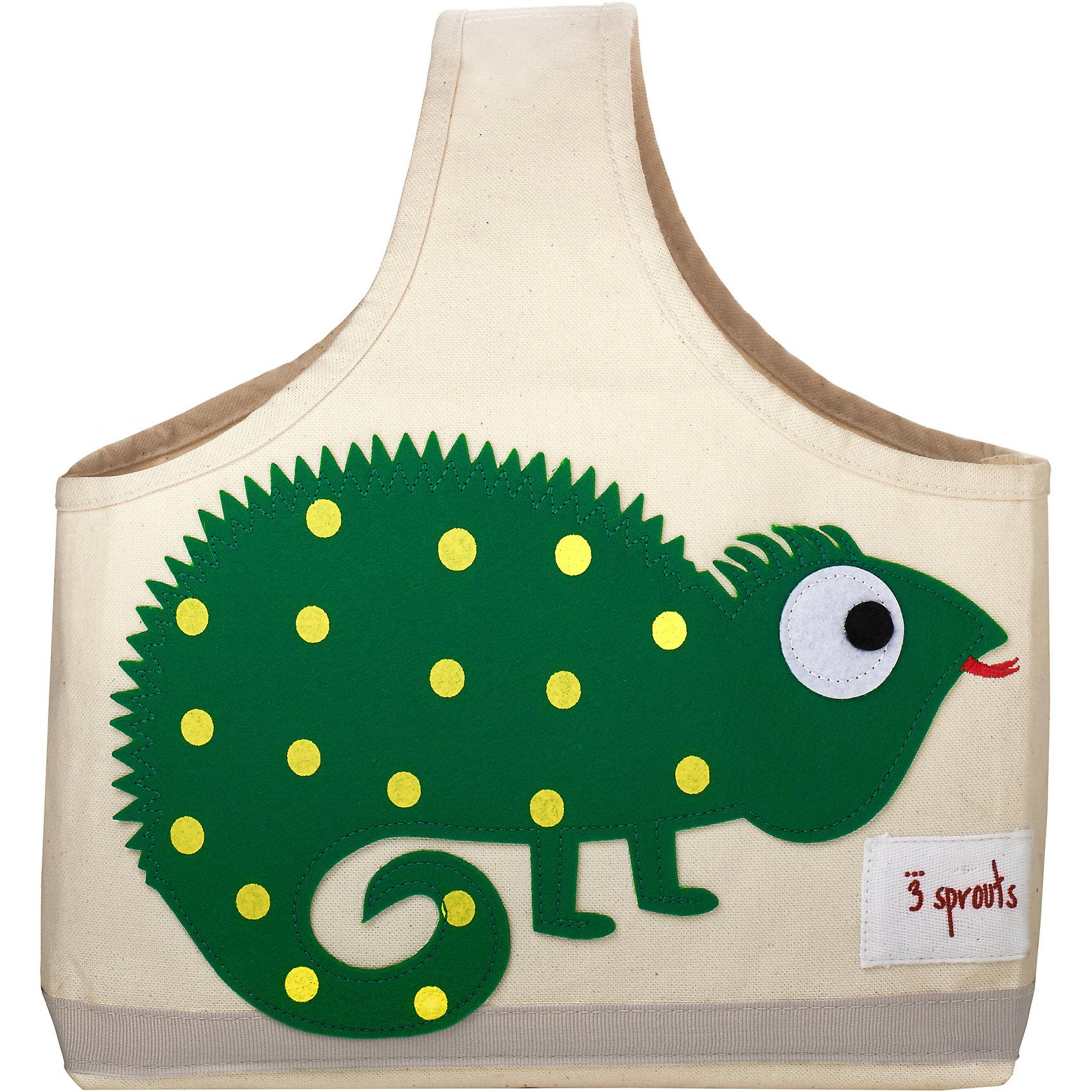 Сумочка для хранения детских принадлежностей Игуана (Green Iguana), 3 SproutsКорзины для игрушек<br>Яркая сумочка - это идеальное решение для хранения детских принадлежностей. Изготовленная из хлопкового брезента и фетра, она является прекрасным контейнером для хранения и переноски любых детских принадлежностей.<br><br>Дополнительная информация:<br><br>- Размер: 38x30x14 см.<br>- Материал: хлопок, фетр, полиэстер.<br>- Орнамент: Игуана.<br><br>Купить сумочку для хранения детских принадлежностей Игуана (Green Iguana), можно в нашем магазине.<br><br>Ширина мм: 320<br>Глубина мм: 240<br>Высота мм: 20<br>Вес г: 234<br>Возраст от месяцев: 6<br>Возраст до месяцев: 84<br>Пол: Унисекс<br>Возраст: Детский<br>SKU: 5098235