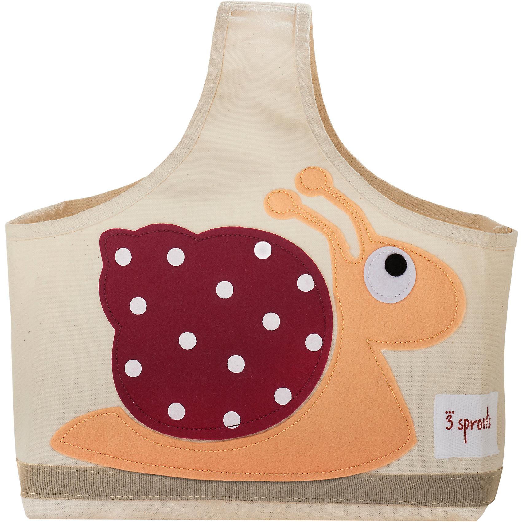 Сумочка для хранения детских принадлежностей Улитка (Red Snail), 3 SproutsПорядок в детской<br>Яркая сумочка - это идеальное решение для хранения детских принадлежностей. Изготовленная из хлопкового брезента и фетра, она является прекрасным контейнером для хранения и переноски любых детских принадлежностей.<br><br>Дополнительная информация:<br><br>- Размер: 38x30x14 см.<br>- Материал: хлопок, фетр, полиэстер.<br>- Орнамент: Улитка.<br><br>Купить сумочку для хранения детских принадлежностей Улитка (Red Snail), можно в нашем магазине.<br><br>Ширина мм: 320<br>Глубина мм: 240<br>Высота мм: 20<br>Вес г: 234<br>Возраст от месяцев: 6<br>Возраст до месяцев: 84<br>Пол: Унисекс<br>Возраст: Детский<br>SKU: 5098236
