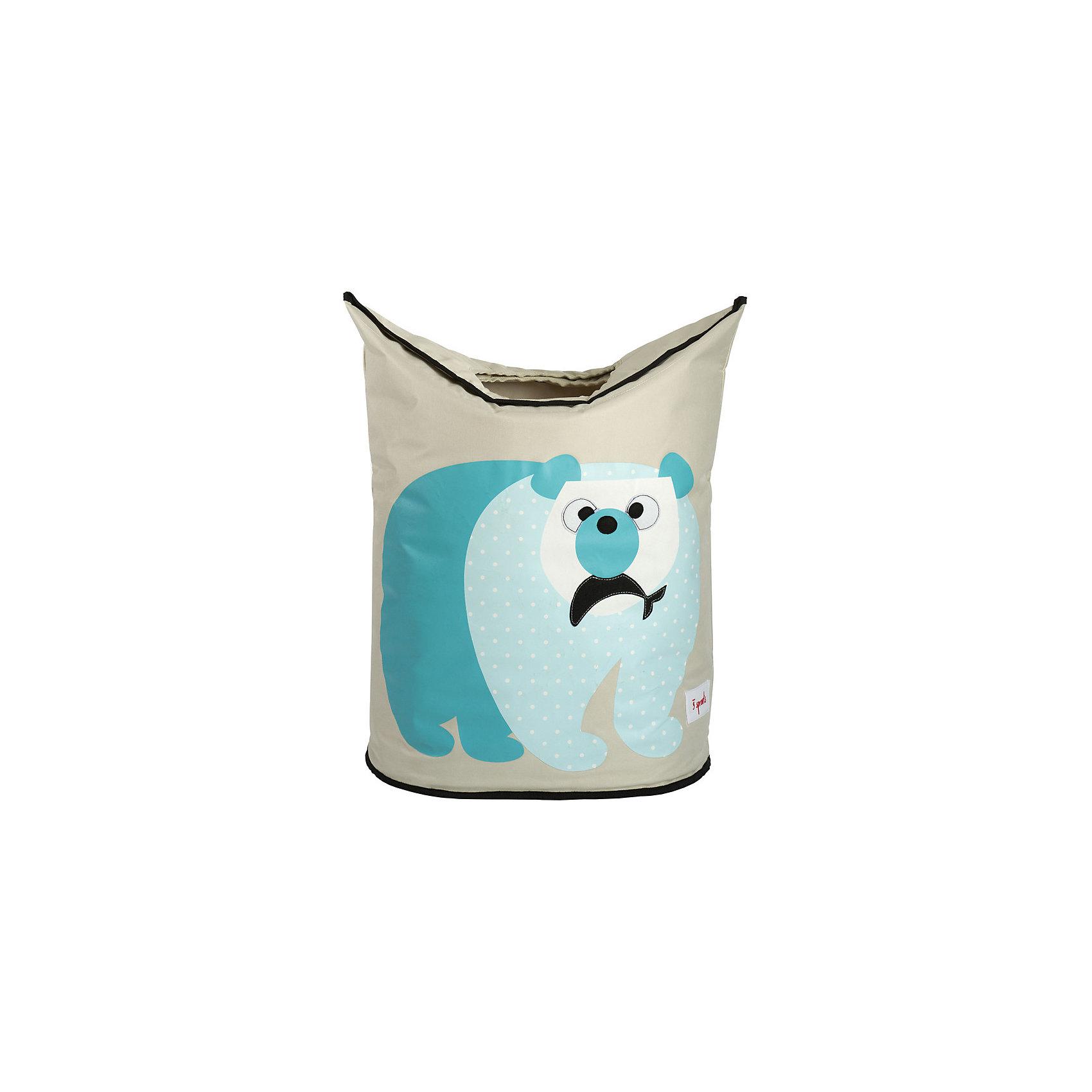 Корзина для белья Белый мишка (Blue Polar Bear), 3 SproutsВанная комната<br>Стильная корзина для хранения белья будет прекрасным декором в Вашей комнате!<br><br>Дополнительная информация:<br><br>- Размер: 56х48х28 см.<br>- Материал: полиэстер, полипропилен.<br>- Орнамент: Белый мишка.<br><br>Купить корзину для белья Белый мишка (Blue Polar Bear), можно в нашем магазине.<br><br>Ширина мм: 600<br>Глубина мм: 20<br>Высота мм: 40<br>Вес г: 554<br>Возраст от месяцев: 0<br>Возраст до месяцев: 588<br>Пол: Унисекс<br>Возраст: Детский<br>SKU: 5098239