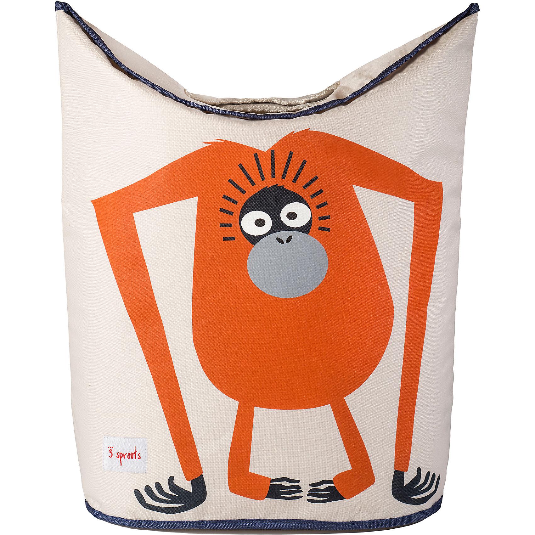 Корзина для белья Орангутан (Orangutan), 3 SproutsВанная комната<br>Стильная корзина для хранения белья будет прекрасным декором в Вашей комнате!<br><br>Дополнительная информация:<br><br>- Размер: 56х48х28 см.<br>- Материал: полиэстер, полипропилен.<br>- Орнамент: Орангутан.<br><br>Купить корзину для белья Орангутан (Orangutan), можно в нашем магазине.<br><br>Ширина мм: 600<br>Глубина мм: 20<br>Высота мм: 40<br>Вес г: 554<br>Возраст от месяцев: 0<br>Возраст до месяцев: 588<br>Пол: Унисекс<br>Возраст: Детский<br>SKU: 5098242