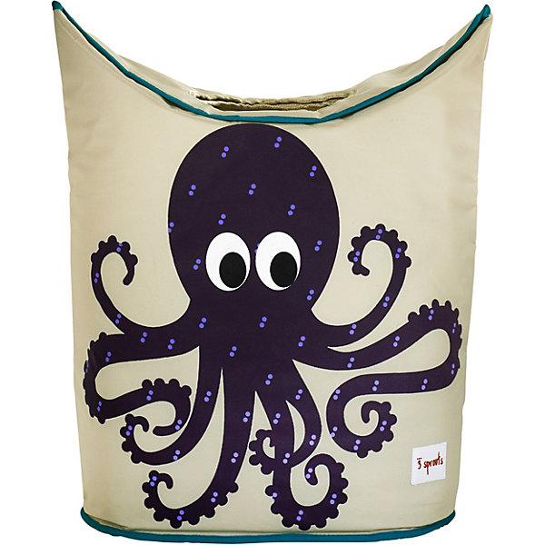 Корзина для белья Осьминог (Purple Octopus), 3 SproutsКорзины для белья<br>Стильная корзина для хранения белья будет прекрасным декором в Вашей комнате!<br><br>Дополнительная информация:<br><br>- Размер: 56х48х28 см.<br>- Материал: полиэстер, полипропилен.<br>- Орнамент: Осьминог.<br><br>Купить корзину для белья Осьминог (Purple Octopus), можно в нашем магазине.<br>Ширина мм: 600; Глубина мм: 20; Высота мм: 40; Вес г: 554; Возраст от месяцев: 0; Возраст до месяцев: 588; Пол: Унисекс; Возраст: Детский; SKU: 5098243;