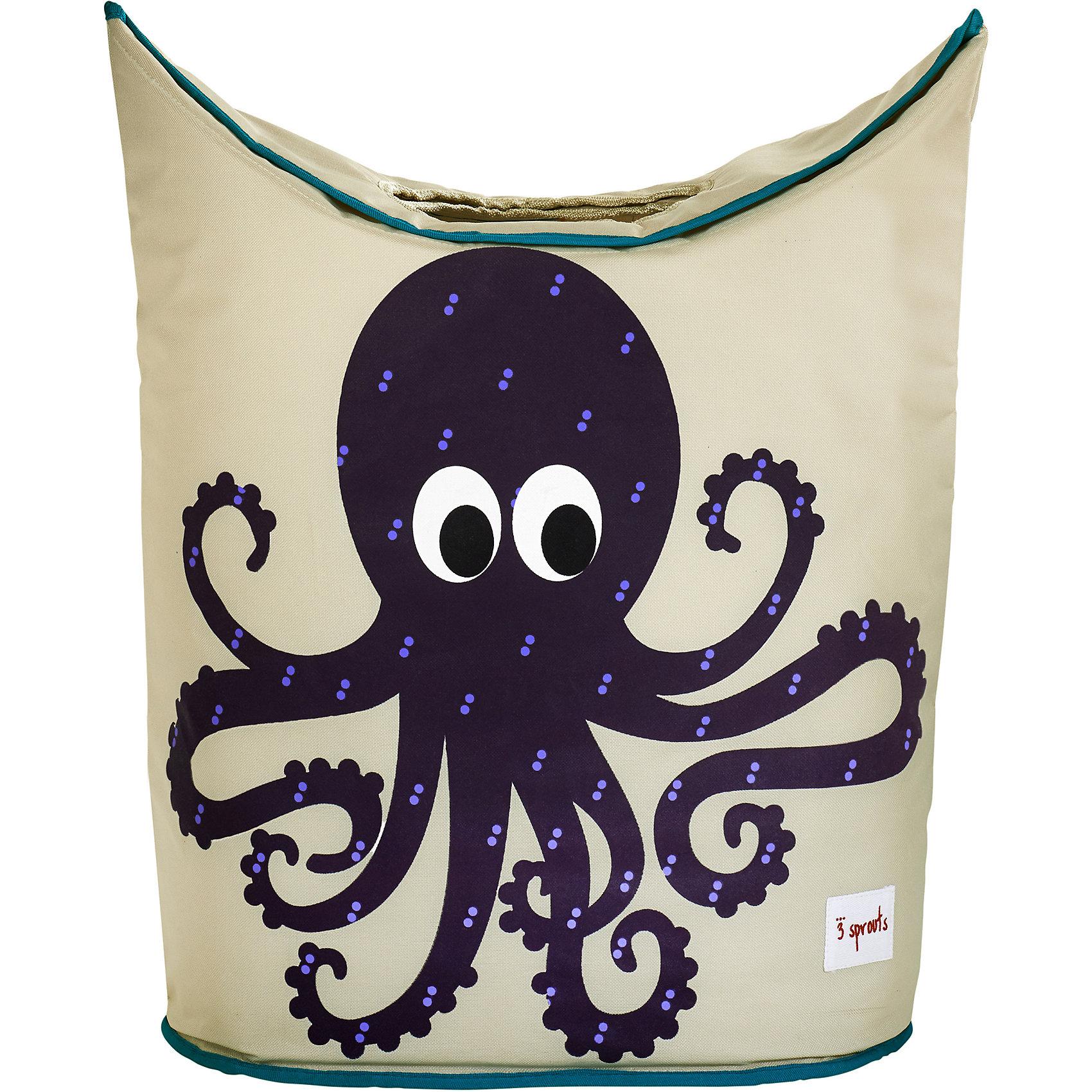 Корзина для белья Осьминог (Purple Octopus), 3 SproutsВанная комната<br>Стильная корзина для хранения белья будет прекрасным декором в Вашей комнате!<br><br>Дополнительная информация:<br><br>- Размер: 56х48х28 см.<br>- Материал: полиэстер, полипропилен.<br>- Орнамент: Осьминог.<br><br>Купить корзину для белья Осьминог (Purple Octopus), можно в нашем магазине.<br><br>Ширина мм: 600<br>Глубина мм: 20<br>Высота мм: 40<br>Вес г: 554<br>Возраст от месяцев: 0<br>Возраст до месяцев: 588<br>Пол: Унисекс<br>Возраст: Детский<br>SKU: 5098243