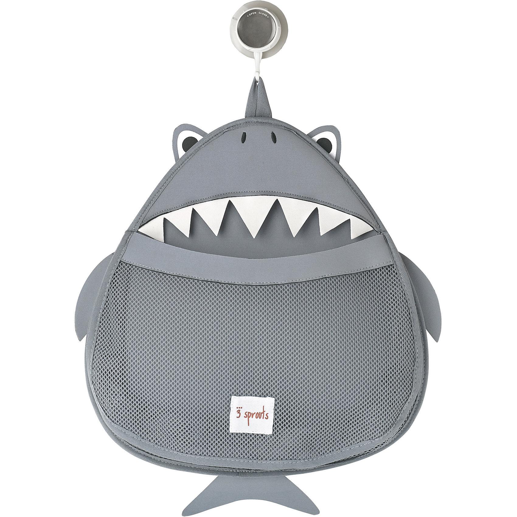 Органайзер для ванной Акула (Grey Shark), 3 SproutsВанная комната<br>Такой яркий органайзер прекрасно подойдёт для хранения банных принадлежностей Вашего малыша! <br><br>Дополнительная информация:<br><br>- Размер: 38х37 см.<br>- Материал: 100% неопрен, 100% полиэстер.<br>- Орнамент: Акула.<br><br>Купить органайзер для ванной Акула (Grey Shark), можно в нашем магазине.<br><br>Ширина мм: 390<br>Глубина мм: 25<br>Высота мм: 370<br>Вес г: 380<br>Возраст от месяцев: 6<br>Возраст до месяцев: 84<br>Пол: Унисекс<br>Возраст: Детский<br>SKU: 5098247