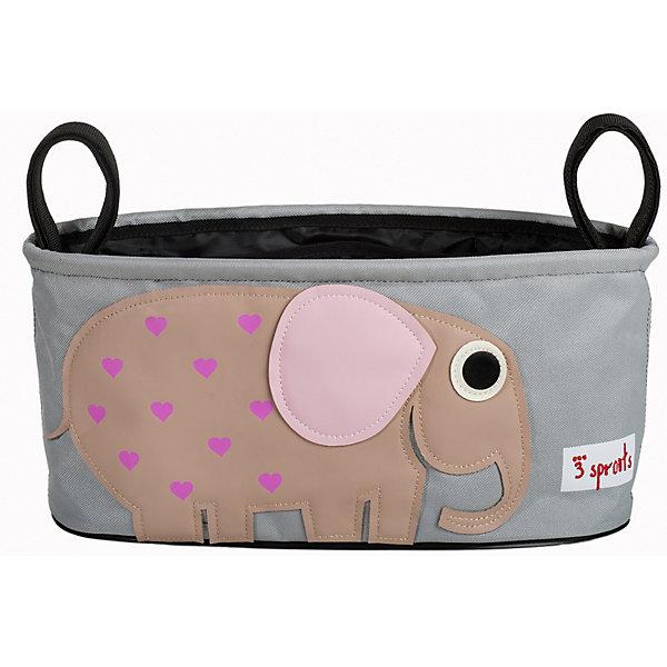 Сумка-органайзер для коляски Слон (Berry Elephant), 3 SproutsАксессуары для колясок<br>Милая сумка-органайзер для мамы. Всё необходимое будет под рукой, когда Вы отправитесь на прогулку со своим малышом. Сумочку можно просто протирать при необходимости, она имеет два отделённых отсека для стакана или бутылки. Так же, есть специальный потайной кармашек для ключей и телефона.<br><br>Дополнительная информация:<br><br>- Размер: 32x15x13 см.<br>- Материал: полиэстер.<br>- Орнамент: Слон.<br><br>Купить сумку-органайзер для коляски Слон (Berry Elephant), можно в нашем магазине.<br>Ширина мм: 420; Глубина мм: 25; Высота мм: 180; Вес г: 226; Возраст от месяцев: 0; Возраст до месяцев: 36; Пол: Унисекс; Возраст: Детский; SKU: 5098248;