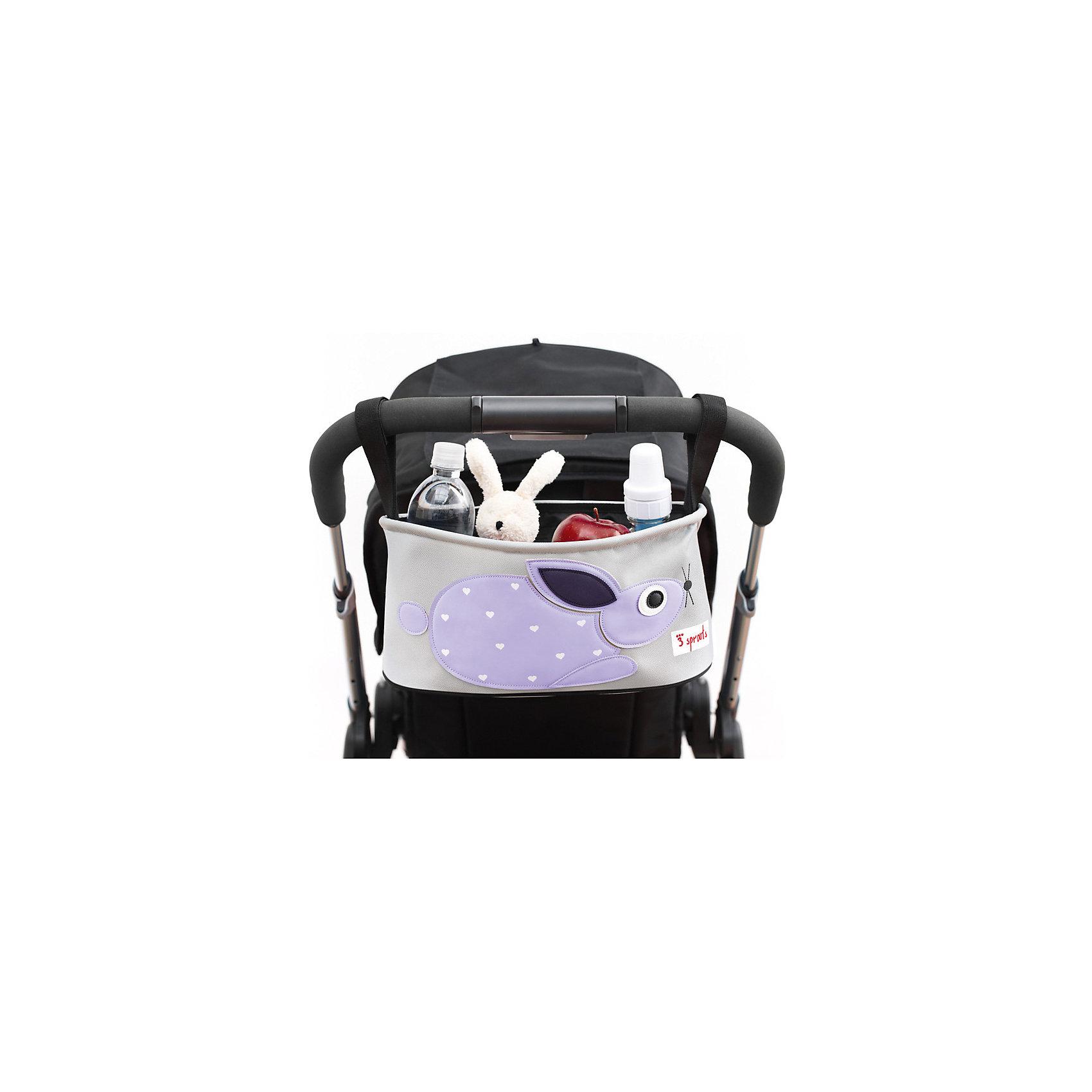 Сумка-органайзер для коляски Кролик (Purple Rabbit), 3 SproutsАксессуары для колясок<br>Милая сумка-органайзер для мамы. Всё необходимое будет под рукой, когда Вы отправитесь на прогулку со своим малышом. Сумочку можно просто протирать при необходимости, она имеет два отделённых отсека для стакана или бутылки. Так же, есть специальный потайной кармашек для ключей и телефона.<br><br>Дополнительная информация:<br><br>- Размер: 32x15x13 см.<br>- Материал: полиэстер.<br>- Орнамент: Кролик.<br><br>Купить сумку-органайзер для коляски Кролик (Purple Rabbit), можно в нашем магазине.<br><br>Ширина мм: 420<br>Глубина мм: 25<br>Высота мм: 180<br>Вес г: 226<br>Возраст от месяцев: 0<br>Возраст до месяцев: 36<br>Пол: Унисекс<br>Возраст: Детский<br>SKU: 5098251