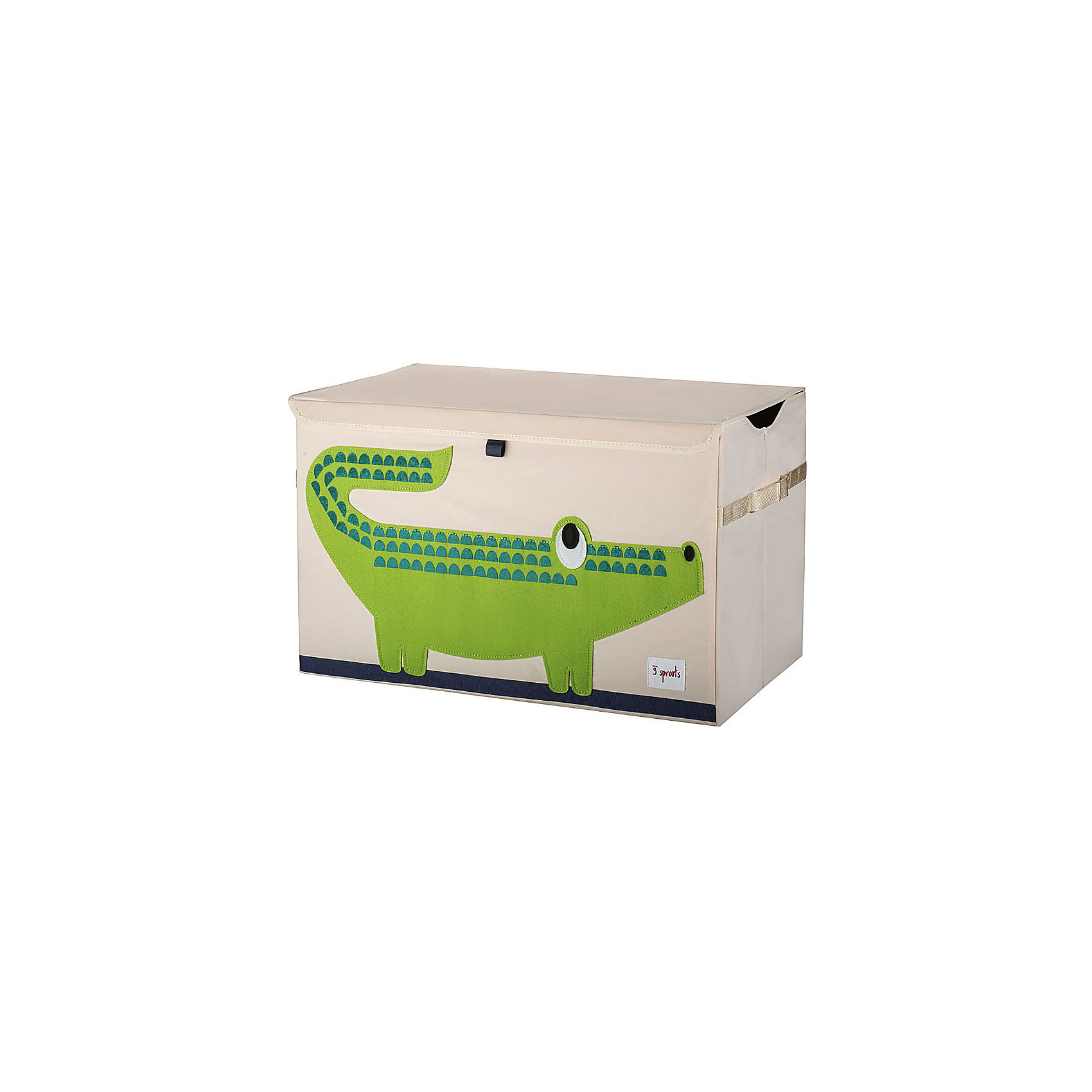 3 Sprouts Сундук для хранения игрушек Крокодил (Green Crocodile), 3 Sprouts