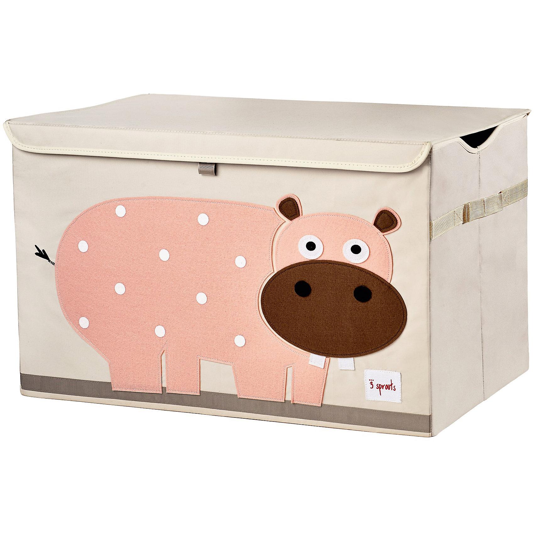 Сундук для хранения игрушек Гиппопотам (Pink Hippo SPR907), 3 SproutsСтильный и вместительный сундук для хранения белья будет прекрасным декором в Вашей комнате!<br><br>Дополнительная информация:<br><br>- Размер: 38x61x37 см.<br>- Материал: 100% полиэстер, 100% полиэстеровая фетровая аппликация, ДСП.<br>- Орнамент: Гиппопотам.<br><br>Купить сундук для хранения игрушек Гиппопотам (Pink Hippo), можно в нашем магазине.<br><br>Ширина мм: 680<br>Глубина мм: 27<br>Высота мм: 267<br>Вес г: 2432<br>Возраст от месяцев: 6<br>Возраст до месяцев: 84<br>Пол: Унисекс<br>Возраст: Детский<br>SKU: 5098257