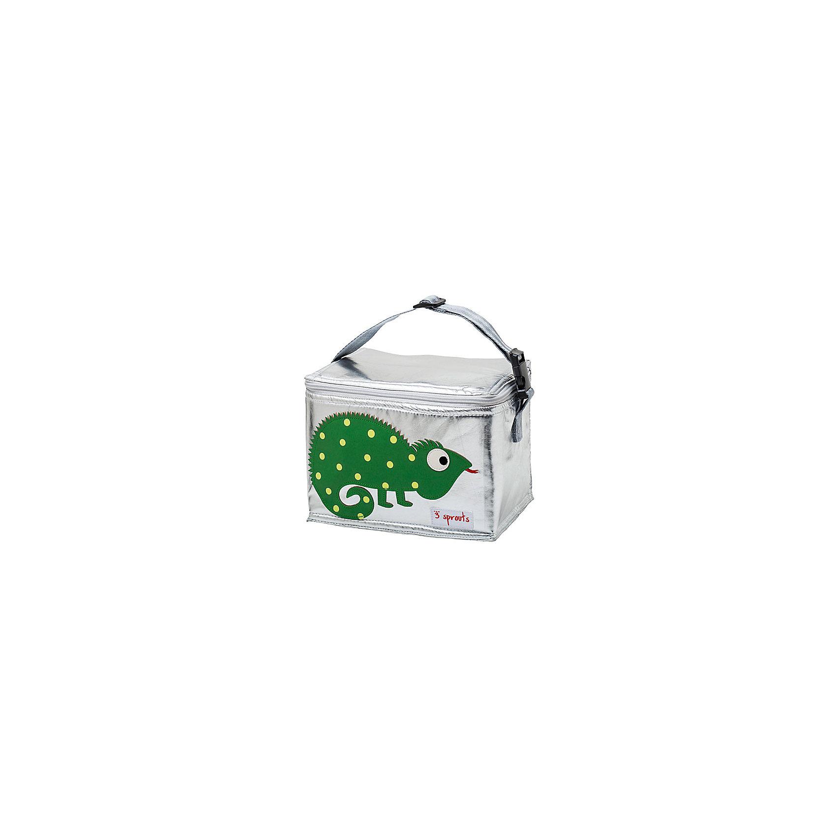 3 Sprouts Сумка для обеда Игуана (Green Iguana SPR1002), 3 Sprouts, зеленый купить gama 1002 в минске