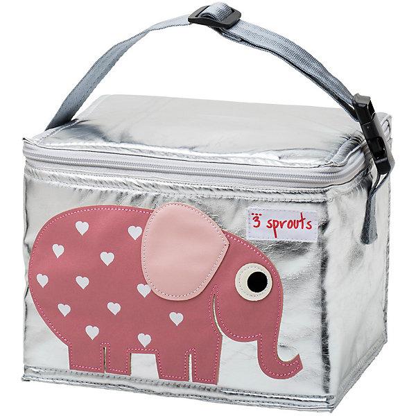 Сумка для обеда Слоник (Pink Elephant SPR1001), 3 Sprouts, розовыйТермосумки и термосы<br>Прекрасная сумка для обеда! Размер идеален для контейнеров, так что вы можете отправить детей в школу вместе с сытными закусками и обедами.<br><br>Дополнительная информация:<br><br>- Размер: 17х17х22 см.<br>- Материал: полиуретан, полиэтиленовая пена, PEVA.<br>- Орнамент: Слоник.<br>- Цвет: розовый.<br><br>Купить сумку для обеда Слоник (Pink Elephant), можно в нашем магазине.<br><br>Ширина мм: 170<br>Глубина мм: 40<br>Высота мм: 250<br>Вес г: 200<br>Возраст от месяцев: 6<br>Возраст до месяцев: 84<br>Пол: Унисекс<br>Возраст: Детский<br>SKU: 5098259