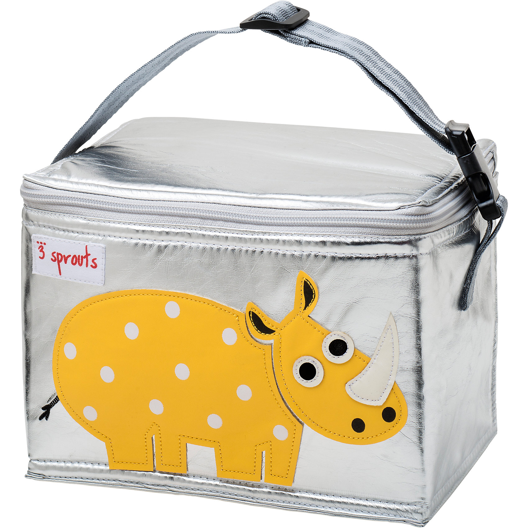 Сумка для обеда Носорог (Yellow Rhino SPR1003), 3 Sprouts, желтыйПрекрасная сумка для обеда! Размер идеален для контейнеров, так что вы можете отправить детей в школу вместе с сытными закусками и обедами.<br><br>Дополнительная информация:<br><br>- Размер: 17х17х22 см.<br>- Материал: полиуретан, полиэтиленовая пена, PEVA.<br>- Орнамент: Носорог.<br>- Цвет: желтый.<br><br>Купить сумку для обеда Носорог (Yellow Rhino), можно в нашем магазине.<br><br>Ширина мм: 170<br>Глубина мм: 40<br>Высота мм: 250<br>Вес г: 200<br>Возраст от месяцев: 6<br>Возраст до месяцев: 84<br>Пол: Унисекс<br>Возраст: Детский<br>SKU: 5098260