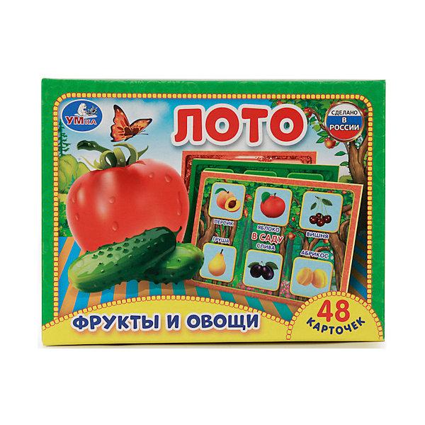 Лото бумажное Мамы и малыши, УмкаЛото<br>Лото бумажное УмкаФрукты и овощи48 карточек. Увлекательная игра, интересна как малышам, так и взрослым. Развивает логику, мышление, память.<br><br>Ширина мм: 40<br>Глубина мм: 120<br>Высота мм: 170<br>Вес г: 100<br>Возраст от месяцев: 36<br>Возраст до месяцев: 72<br>Пол: Унисекс<br>Возраст: Детский<br>SKU: 5099019