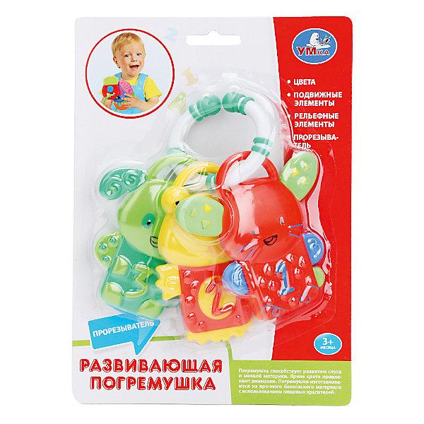 Погремушка прорезыватель Собачки, УмкаИгрушки для новорожденных<br>Погремушка-прорезыватель от производителя Умкав виде кольца с тремя яркими рельефными прорезывателями в виде собачек, помогут ребенку в трудный период роста первых зубов.<br><br>Ширина мм: 50<br>Глубина мм: 210<br>Высота мм: 160<br>Вес г: 140<br>Возраст от месяцев: 3<br>Возраст до месяцев: 12<br>Пол: Унисекс<br>Возраст: Детский<br>SKU: 5099025