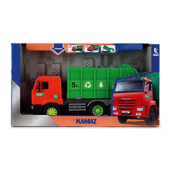 Машина Камаз: мусоровоз, ТехнопаркМашинки<br>Машина Камаз: мусоровоз, Технопарк<br><br>Характеристики:<br><br>• дверцы открываются<br>• световые и звуковые эффекты<br>• инерционный механизм<br>• материал: металл, пластик<br>• размер игрушки: 25 см<br>• размер упаковки: 12х20х35 см<br><br>Как известно, ни один город не обходится без мусоровоза. Мусоровоз от бренда ТЕХНОПАРК позволит ребенку придумать очень интересную игру с этой машиной. Двери мусоровоза открываются, благодаря чему ребенок сможет рассмотреть все детали кабины. Световые и звуковые эффекты включаются при нажатии на кнопку. Эта машина станет превосходным дополнением к коллекции ребенка!<br><br>Машину Камаз: мусоровоз, Технопарк вы можете купить в нашем интернет-магазине.<br><br>Ширина мм: 120<br>Глубина мм: 350<br>Высота мм: 200<br>Вес г: 710<br>Возраст от месяцев: 36<br>Возраст до месяцев: 72<br>Пол: Мужской<br>Возраст: Детский<br>SKU: 5099039