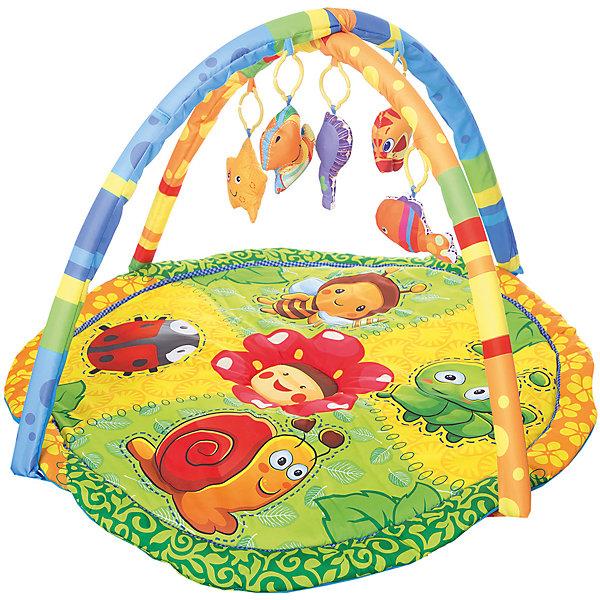 Детский игровой коврик с мягкими игрушками на подвеске, УмкаРазвивающие коврики<br>Детский игровой коврик, произведенный из текстиля с наполнителем позволяет безопасно находится на нем вашему малышу. Внимание ребенка привлекут мягкие 5 съемных игрушек в виде животных. Коврик так же имеет звуковые эффекты.<br><br>Ширина мм: 80<br>Глубина мм: 600<br>Высота мм: 460<br>Вес г: 1110<br>Возраст от месяцев: 6<br>Возраст до месяцев: 36<br>Пол: Унисекс<br>Возраст: Детский<br>SKU: 5099052
