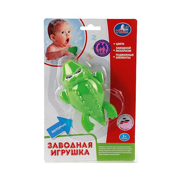 Заводная игрушка Крокодил, УмкаИгрушки для ванной<br>Заводной пластиковый крокодильчик превратит купание вашего малыша в веселую игру. Игрушка выполнена из качественного пластика с использованием нетоксичных красителей<br><br>Ширина мм: 60<br>Глубина мм: 140<br>Высота мм: 210<br>Вес г: 60<br>Возраст от месяцев: 6<br>Возраст до месяцев: 36<br>Пол: Унисекс<br>Возраст: Детский<br>SKU: 5099071