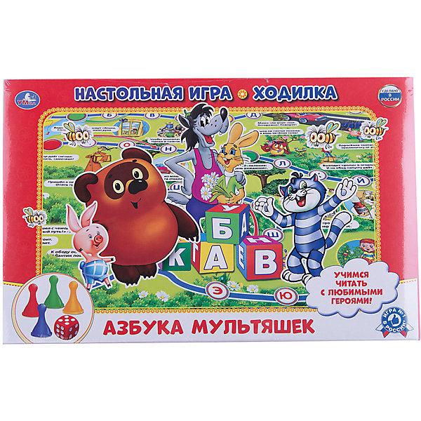 Настольная игра-ходилка Азбука мультяшек, Умка