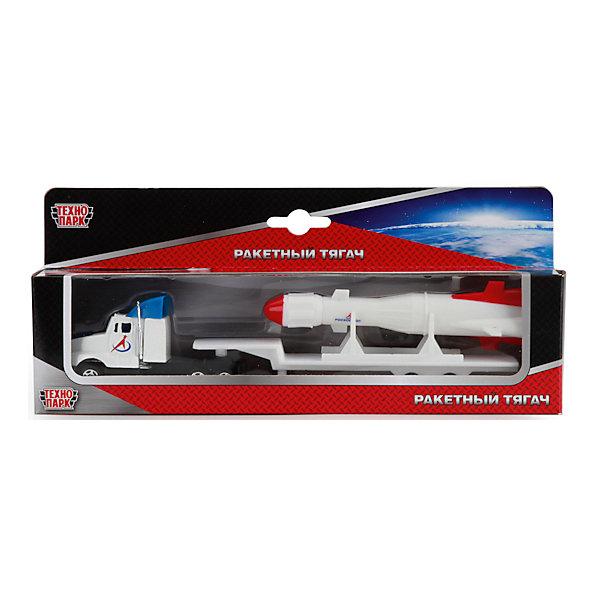 Трейлер Космос с ракетой, ТехнопаркМашинки<br>Характеристики:<br><br>• тип игрушки: машина;<br>• возраст: от 3 лет;<br>• размер: 5х15х3 см;<br>• цвет: белый;<br>• материал: металл, пластик;<br>• бренд: Технопарк;<br>• страна производителя: Китай.<br><br>Машина Технопарк «Космос с ракетой»  напоминает миниатюрный транспортный трейлер с открытым прицепом. Машинка окрашена в белый цвет и дополнена яркой наклейкой о принадлежности к космической службе. В комплекте с трейлером также предусмотрена реалистичная ракета с тщательно проработанным корпусом. Ракету можно разместить в прицепе трейлера и перевозить ее благодаря рельефным колесикам<br><br>Тематические игры с интересными сюжетами разбудят воображение ребёнка, а манипуляции с игрушкой потренируют мелкую моторику пальцев рук. Масштабные модели от компании «Технопарк» отличаются качественными ударопрочными материалами, продлевающими долговечность изделия тщательным исполнением со вниманием ко всем деталям, и имеют требуемые сертификаты соответствия для детских игрушек.<br><br>Машину Технопарк «Космос с ракетой»  можно купить в нашем интернет-магазине.<br>Ширина мм: 40; Глубина мм: 70; Высота мм: 250; Вес г: 120; Возраст от месяцев: 36; Возраст до месяцев: 72; Пол: Мужской; Возраст: Детский; SKU: 5099093;